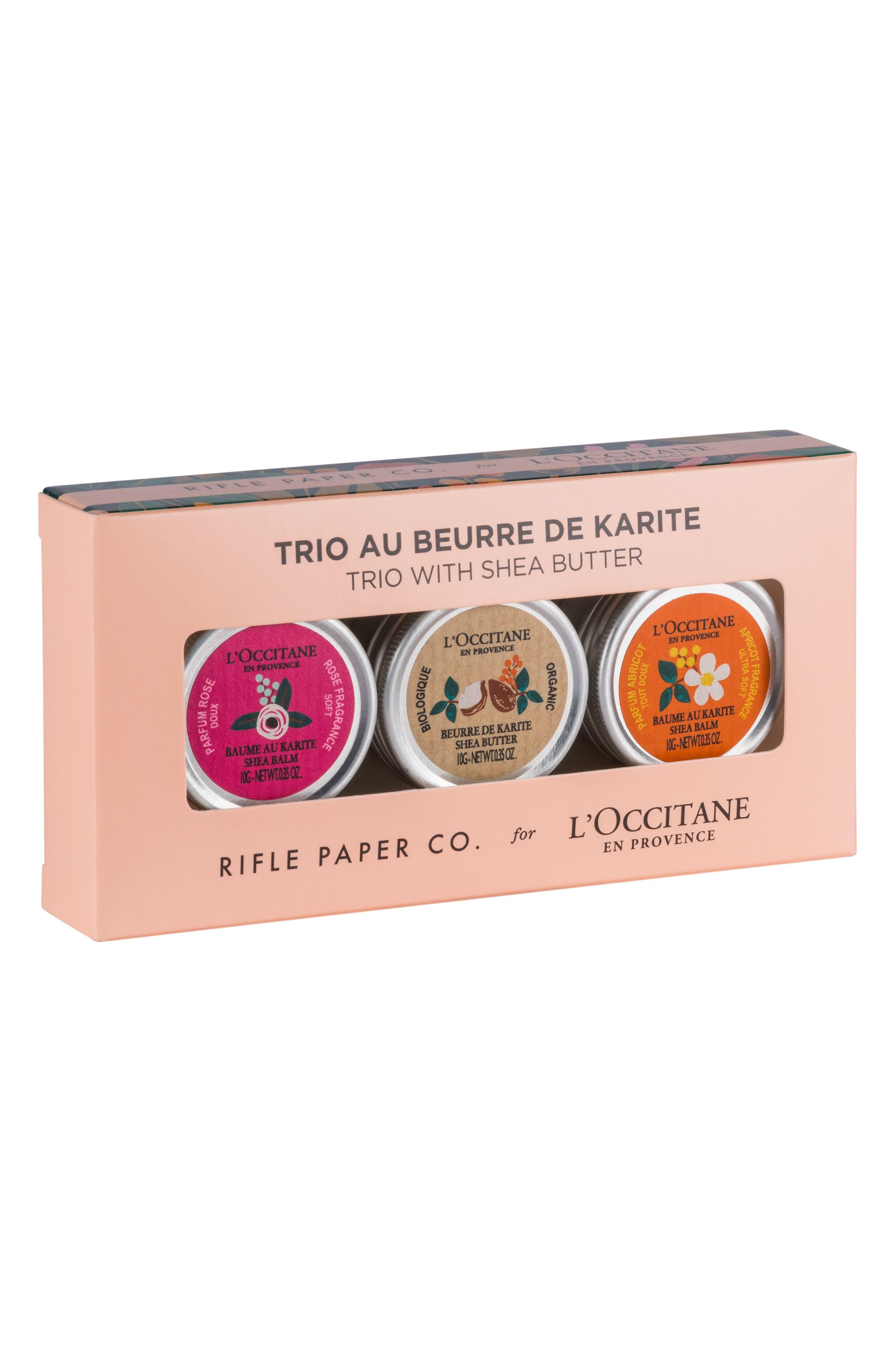 Main Image - L'Occitane Rifle Paper Co. Shea Butter Balm Trio ($36 Value)