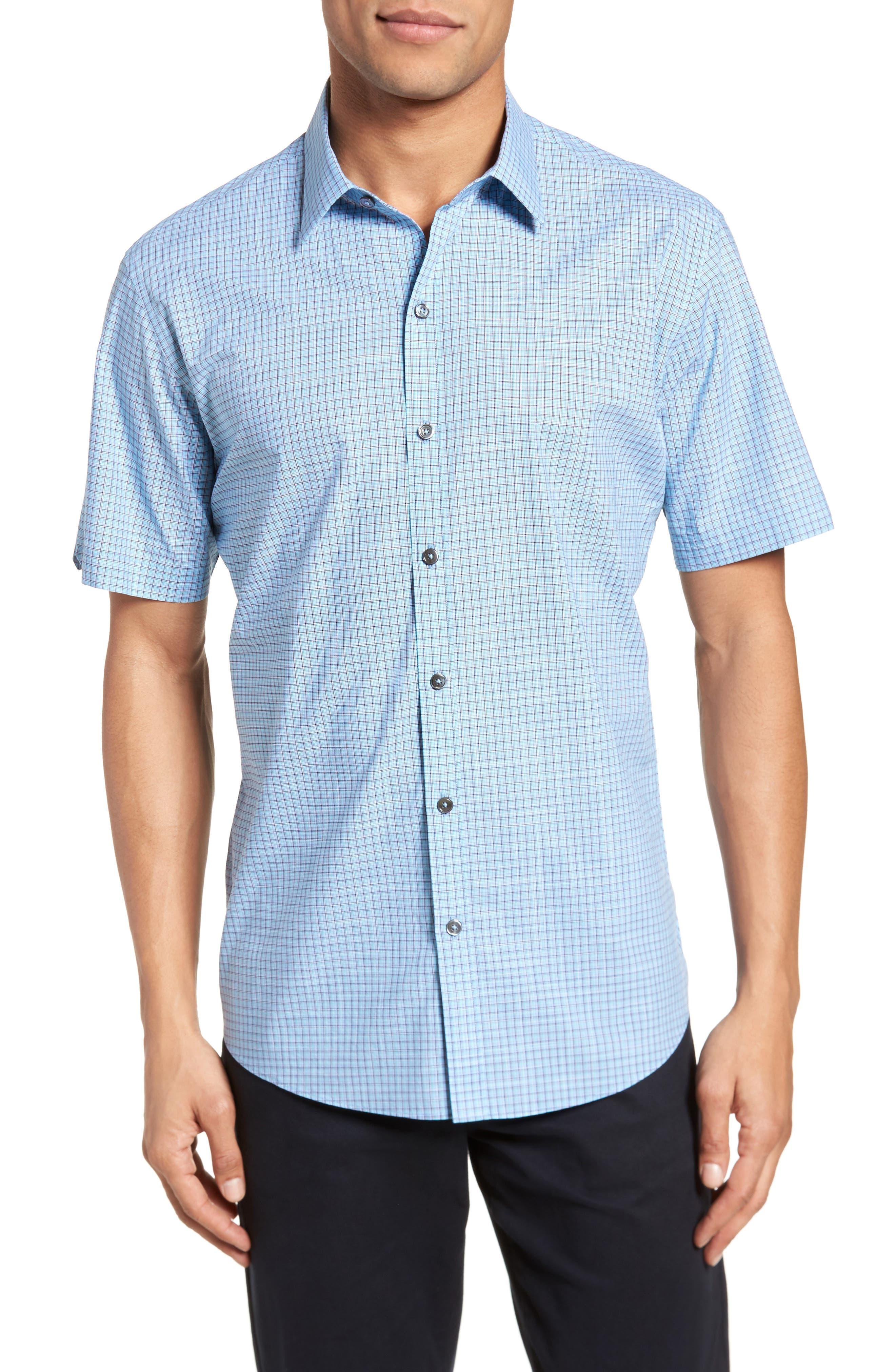 Dunleavy Check Sport Shirt,                         Main,                         color, Blue
