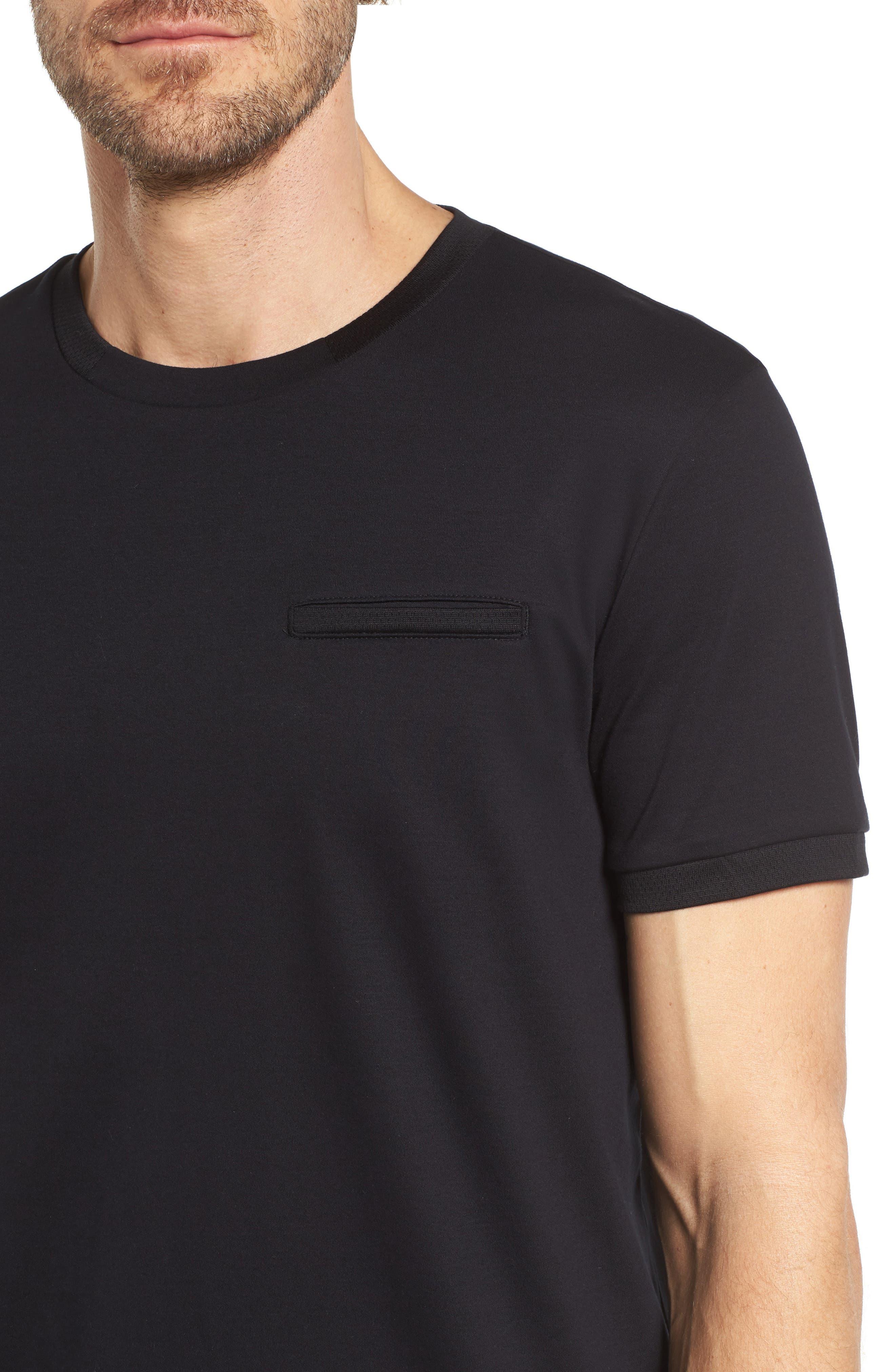 Tessler Mercedes Slim Fit Crewneck T-Shirt,                             Alternate thumbnail 4, color,                             Black