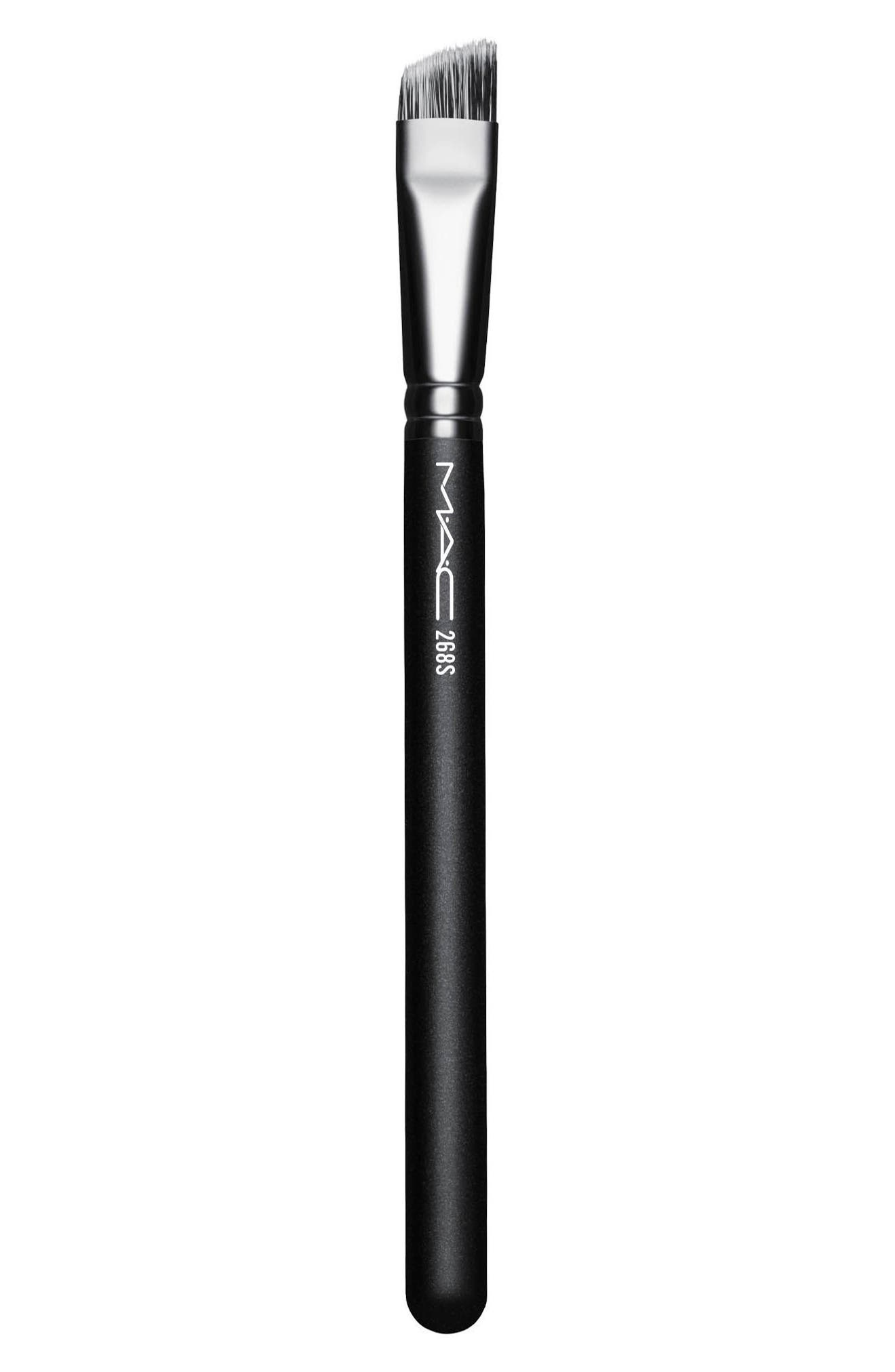 MAC 268S Synthetic Duo Fibre Angle Brush,                             Main thumbnail 1, color,                             No Color