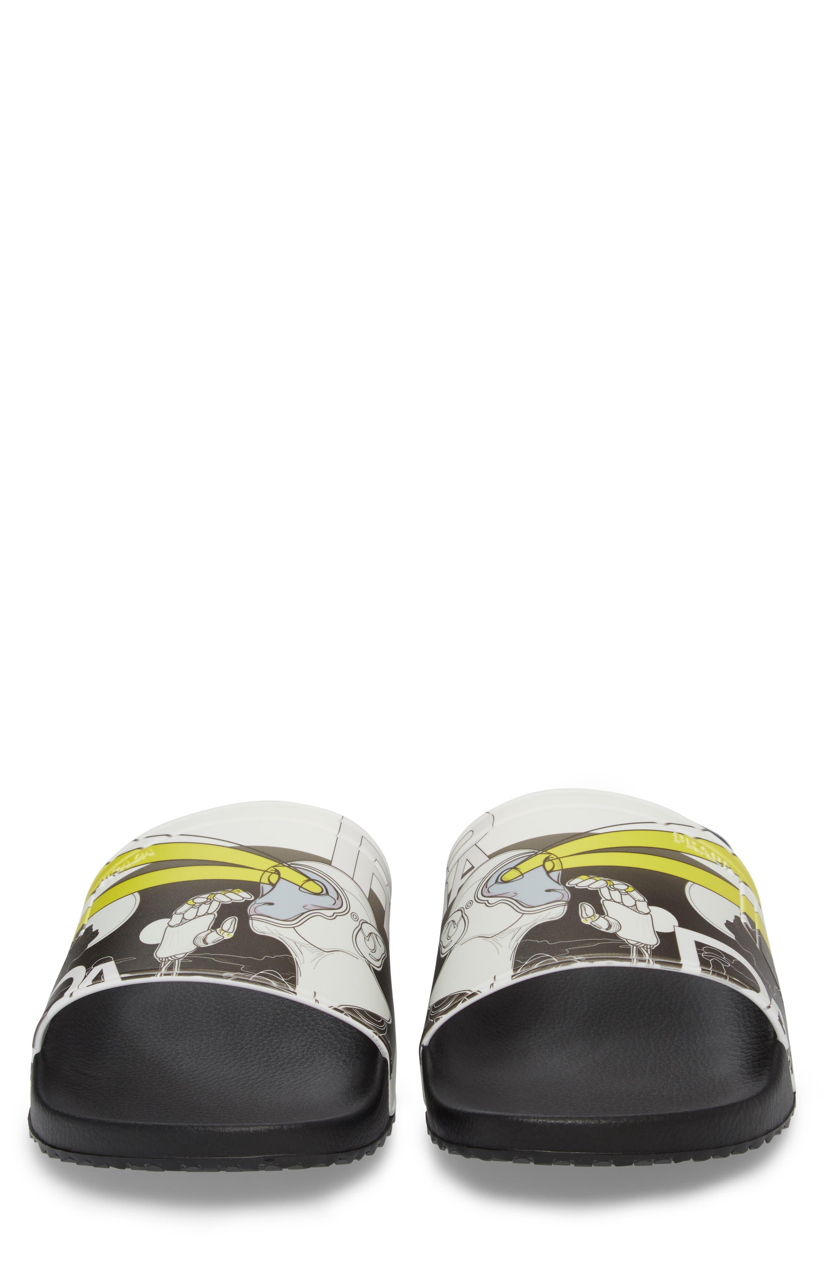 Alternate Image 5  - Prada Linea Rossa Comic Print Slide Sandal (Men)