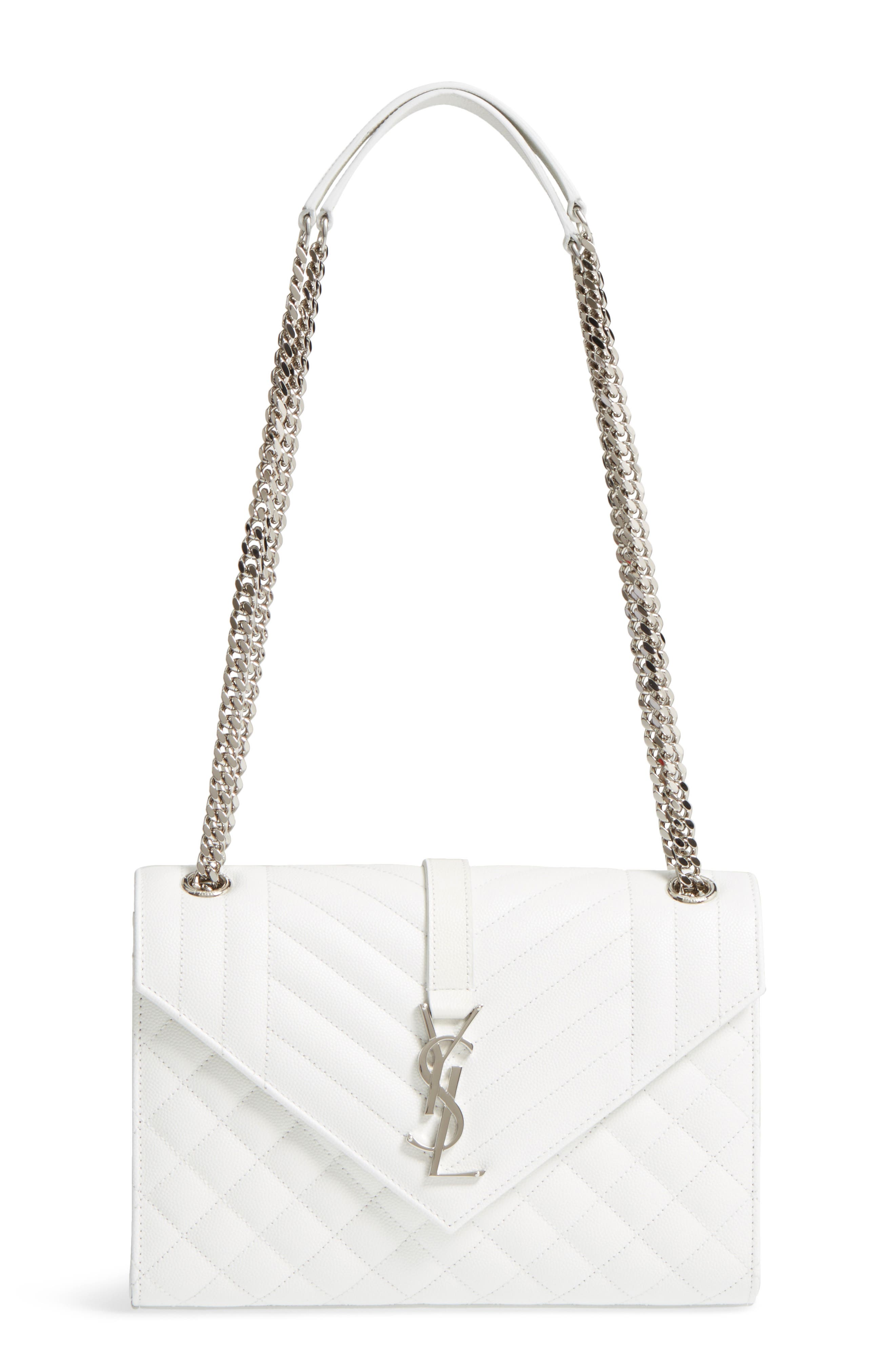 Main Image - Saint Laurent Medium Calfskin Shoulder Bag