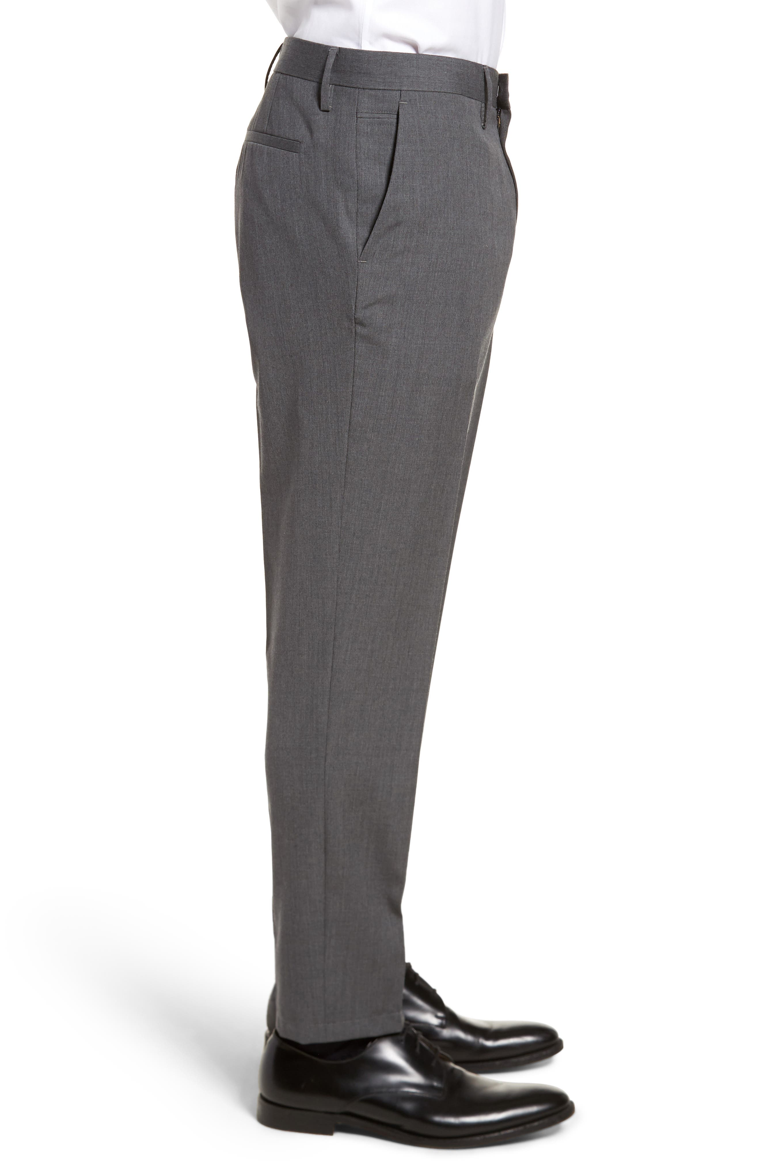 Slim Wool Trousers,                             Alternate thumbnail 3, color,                             Grey Magnet