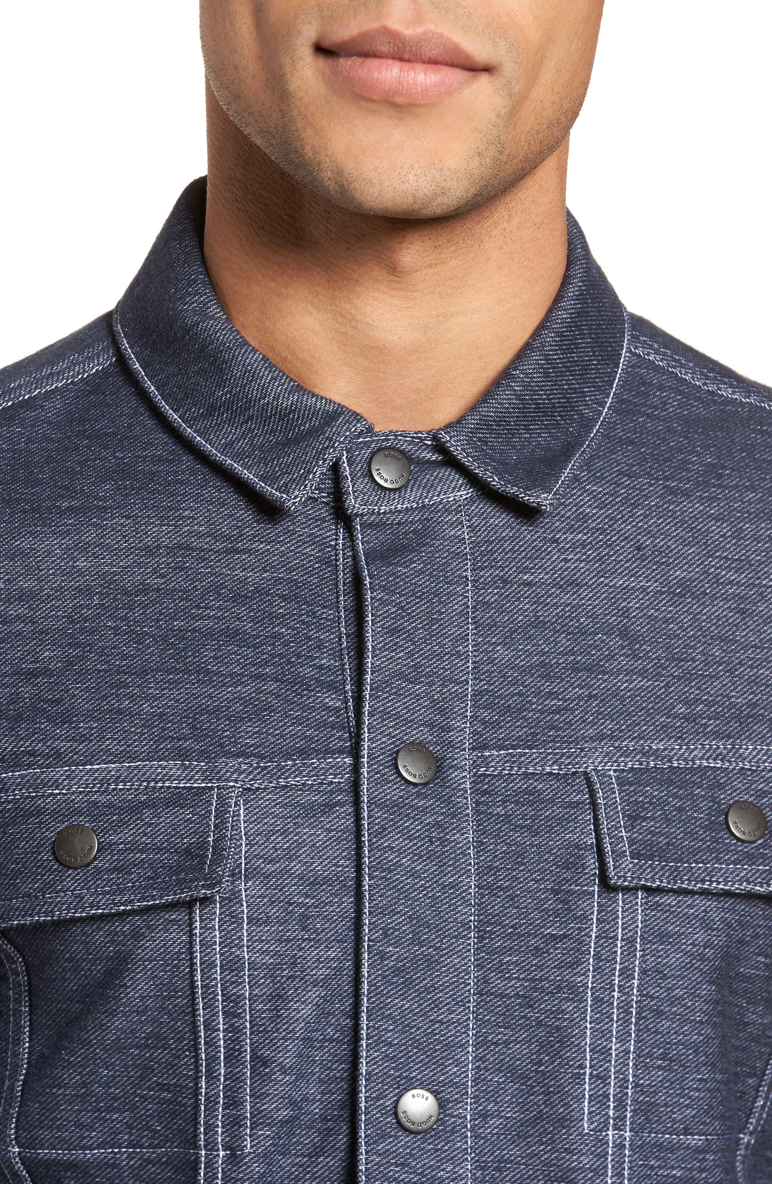 Sigmon Stretch Denim Jacket,                             Alternate thumbnail 4, color,                             Blue