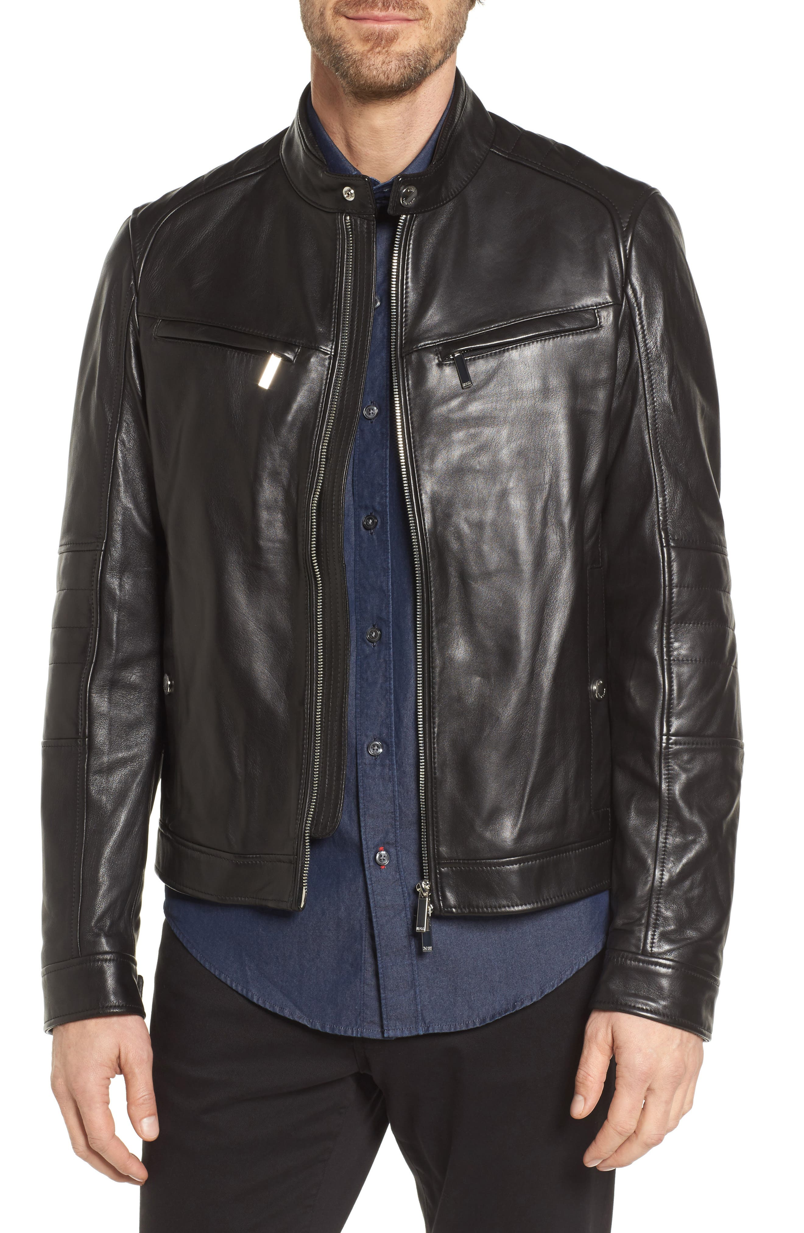 BOSS Nyvano Mercedes Leather Jacket