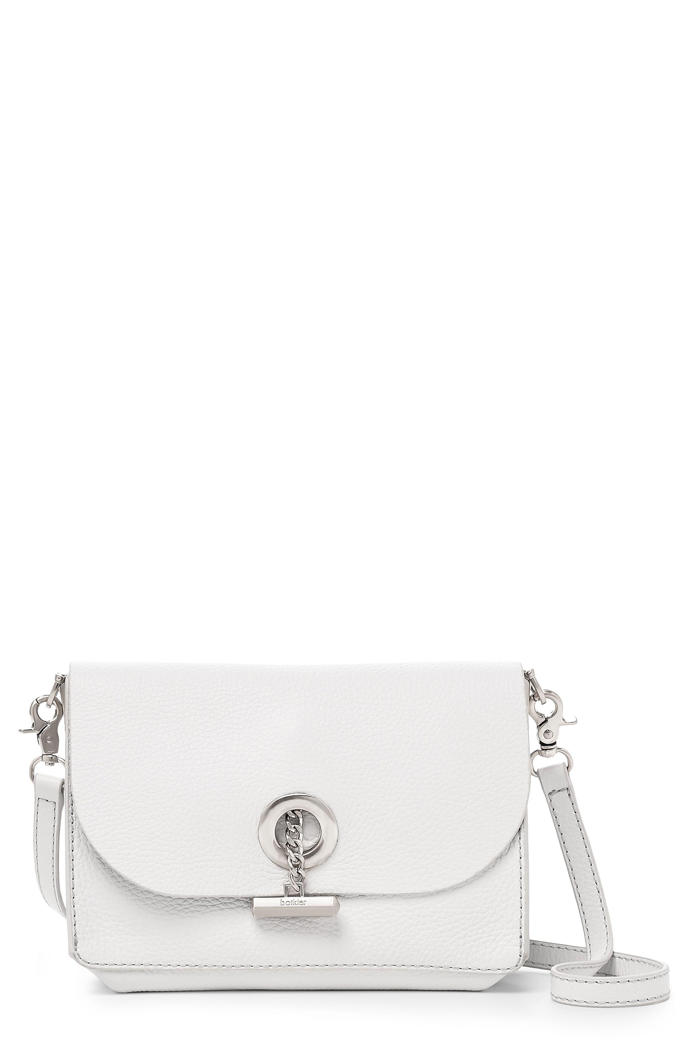 Waverly Leather Crossbody Bag,                             Main thumbnail 1, color,                             Chalk