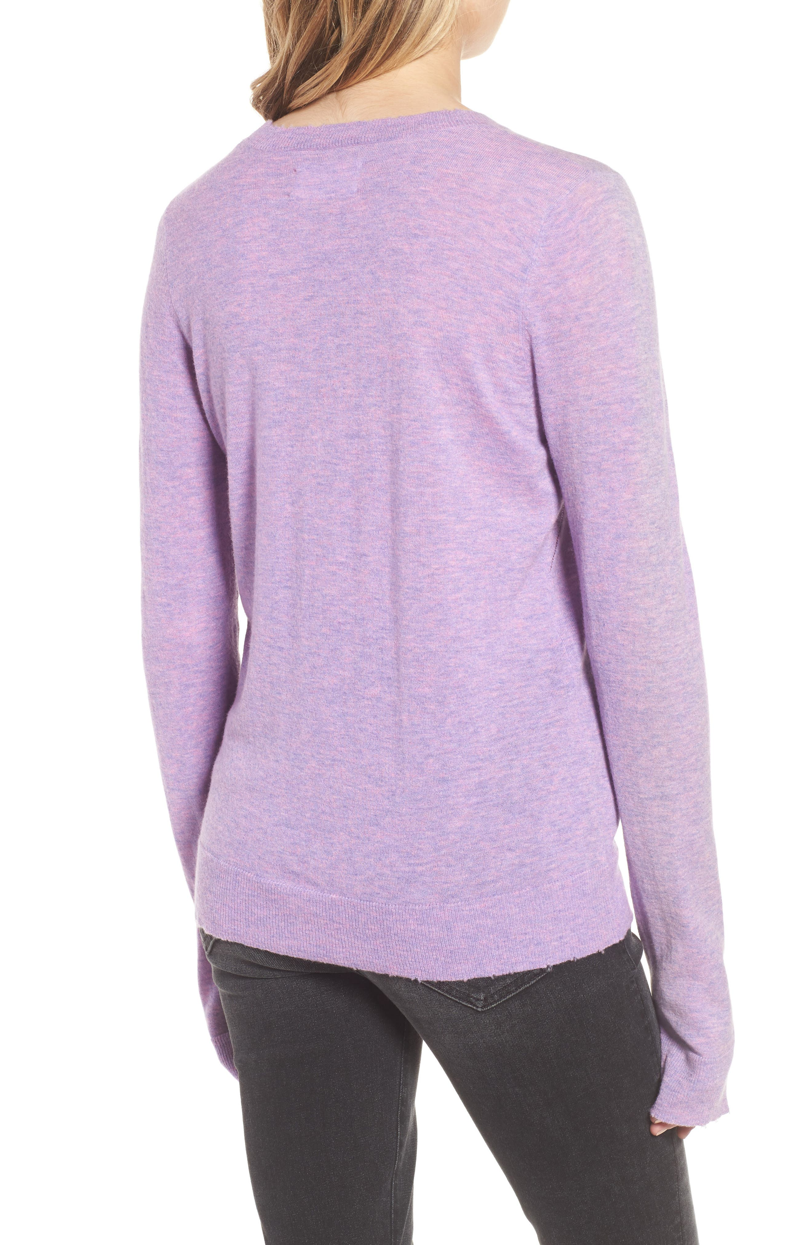Miss Bis Cashmere Sweater,                             Alternate thumbnail 2, color,                             Lilac