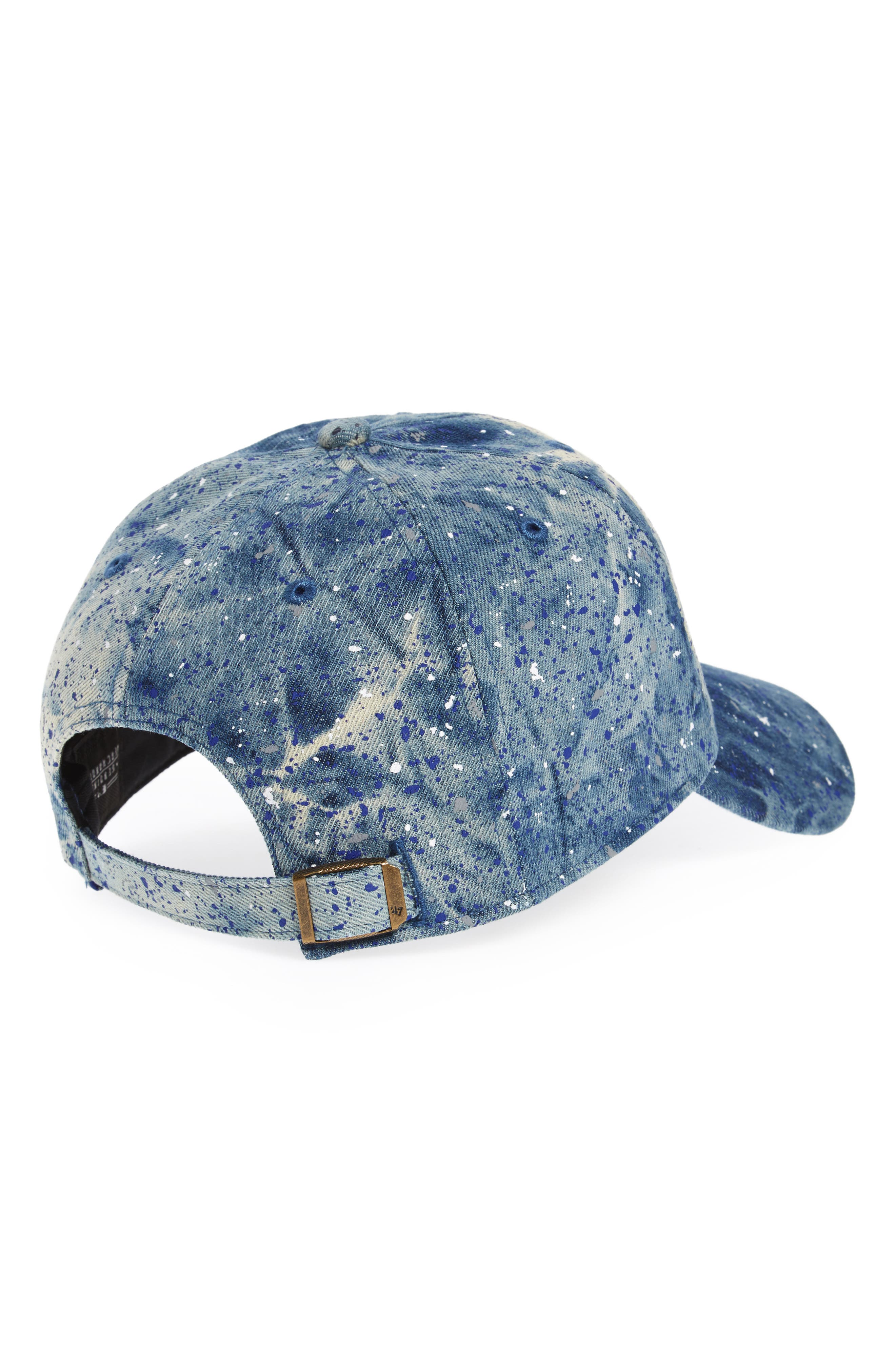 Los Angeles Dodgers - Blue Splatter Baseball Cap,                             Alternate thumbnail 2, color,                             Blue