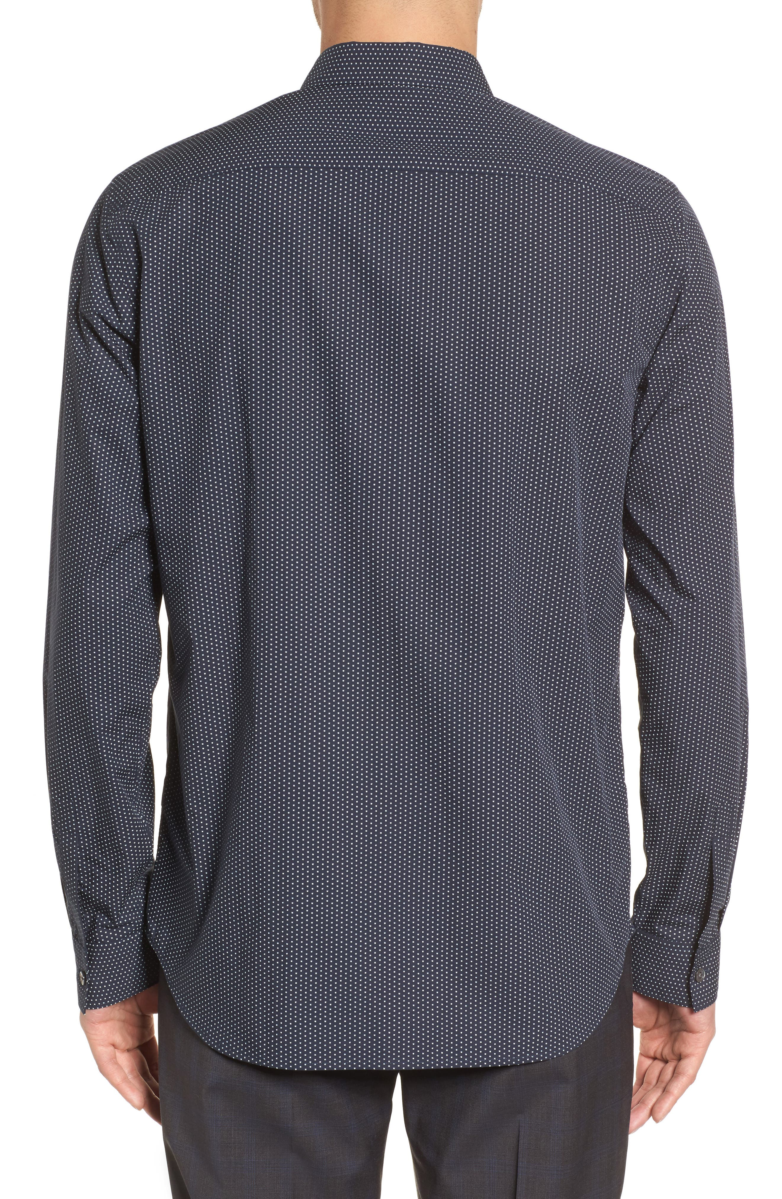 Murray Slim Fit Sport Shirt,                             Alternate thumbnail 2, color,                             Eclipse