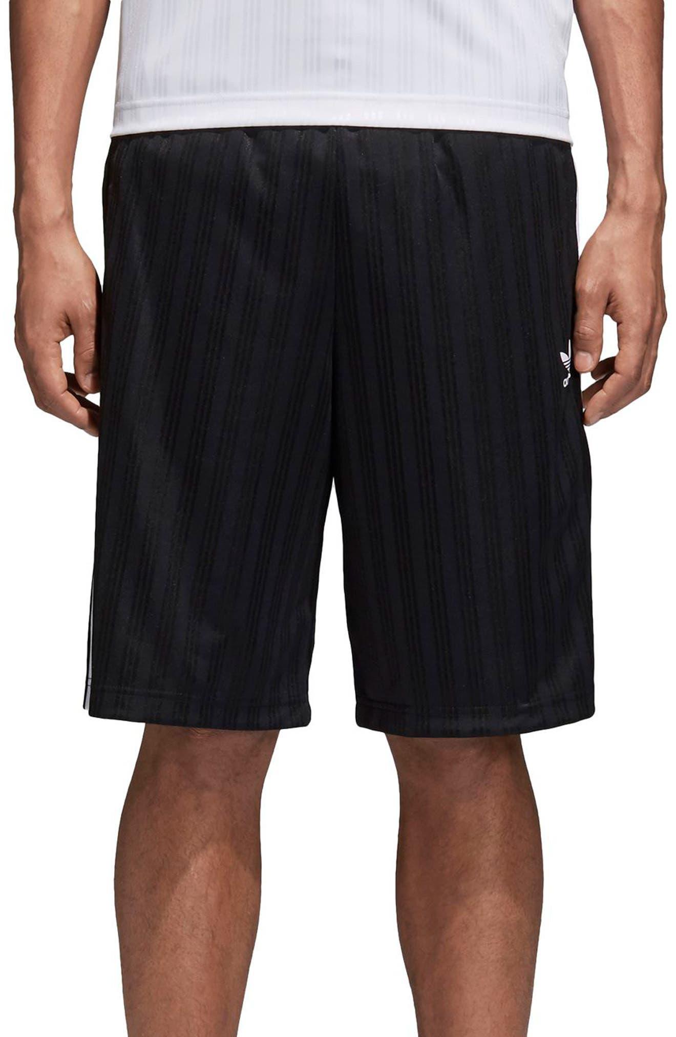 Football Shorts,                             Main thumbnail 1, color,                             Black