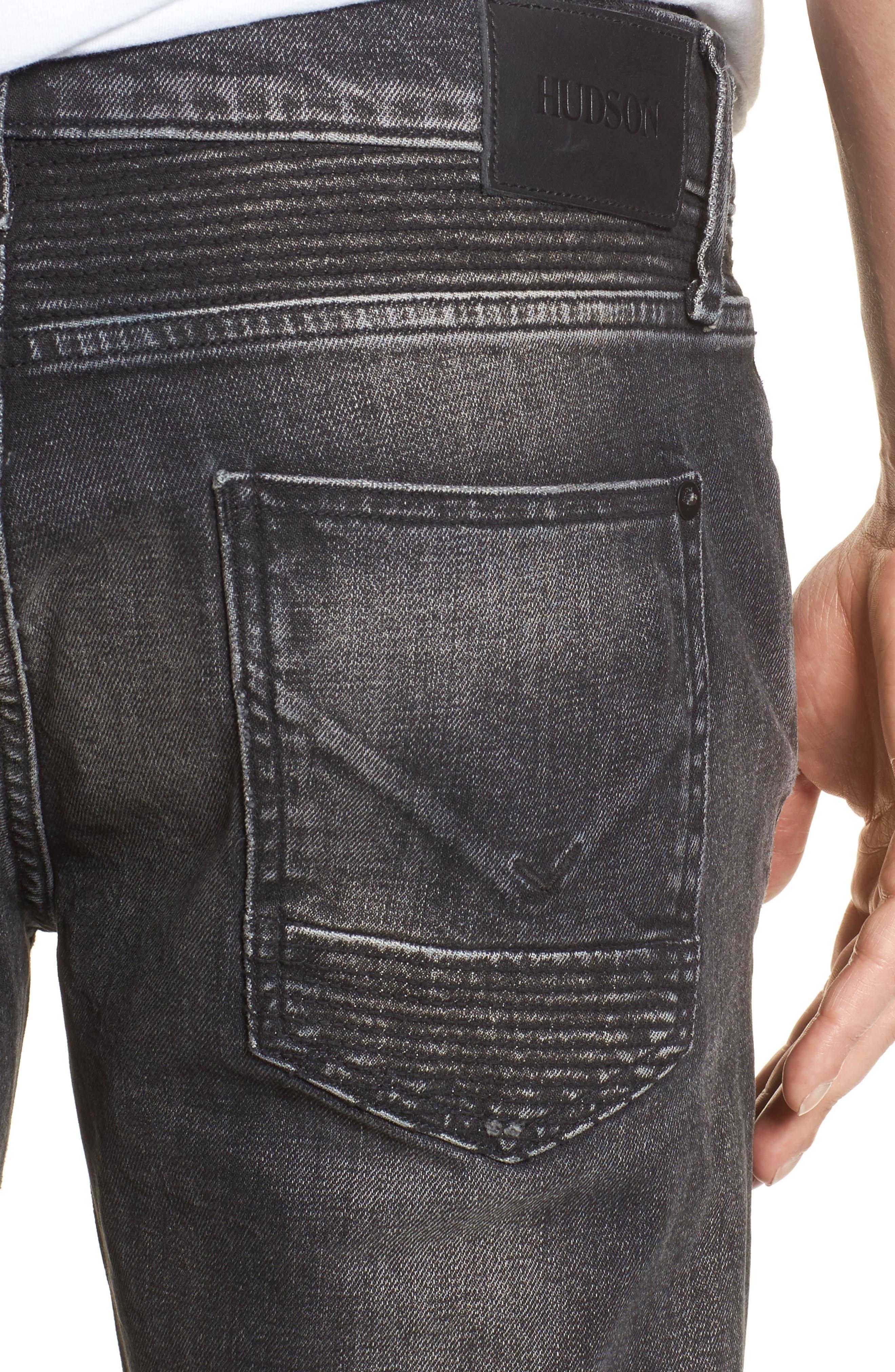 Blinder Biker Skinny Fit Jeans,                             Alternate thumbnail 4, color,                             Hacker