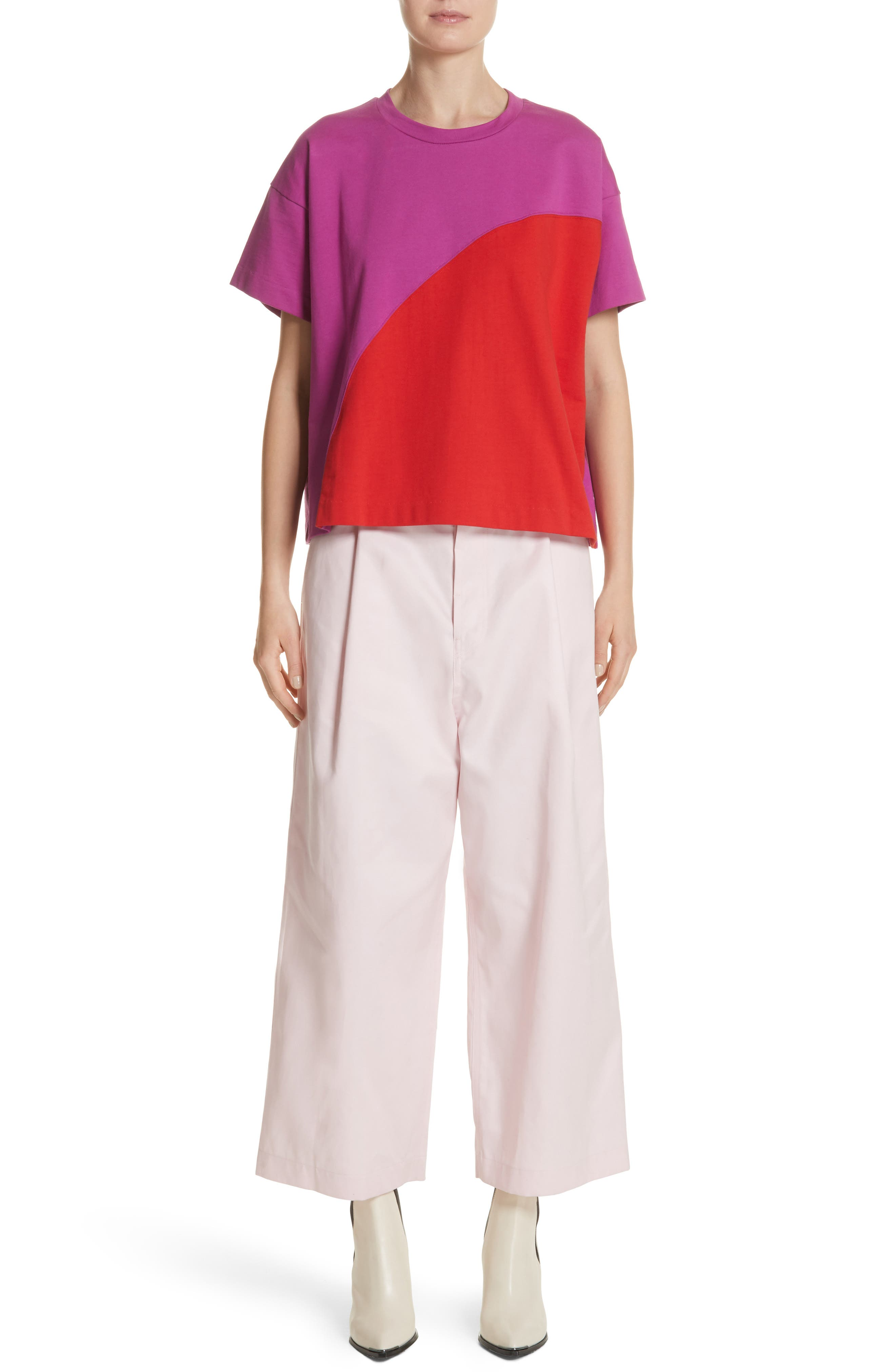 Colorblock Tee,                             Alternate thumbnail 7, color,                             1Red/Violet