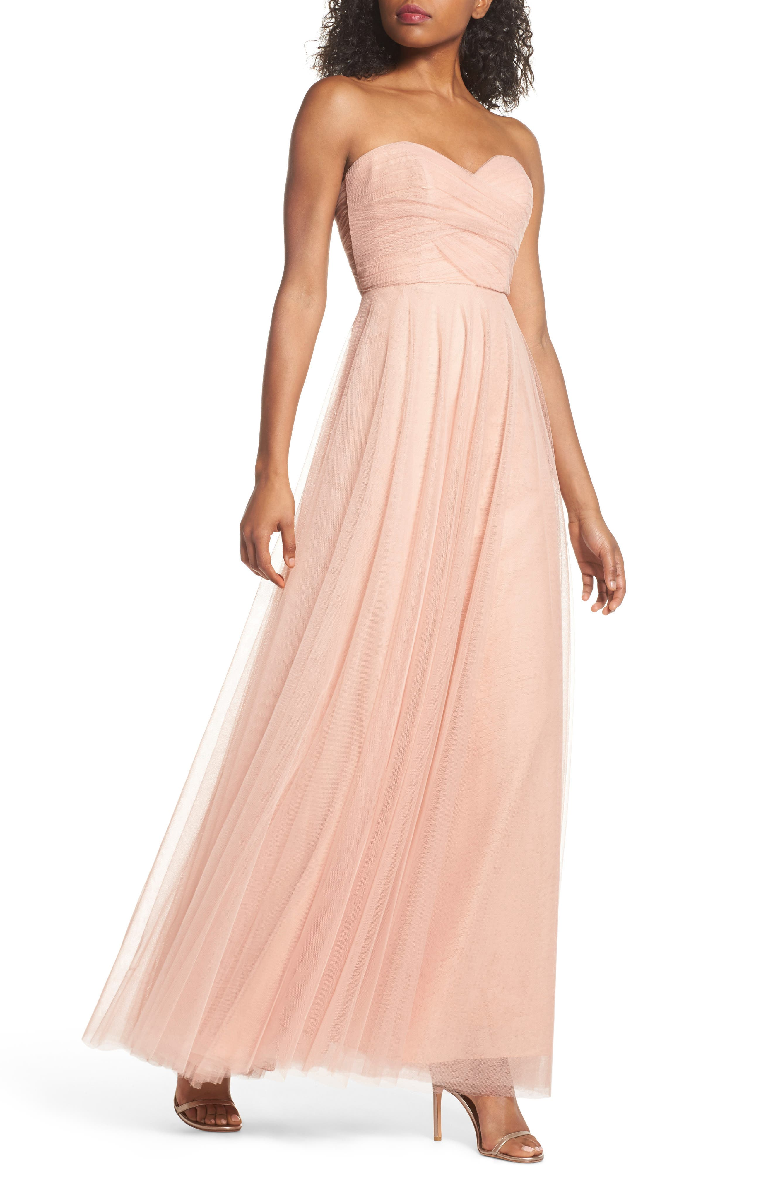 Alternate Image 1 Selected - Jenny Yoo Julia Convertible Soft Tulle Gown