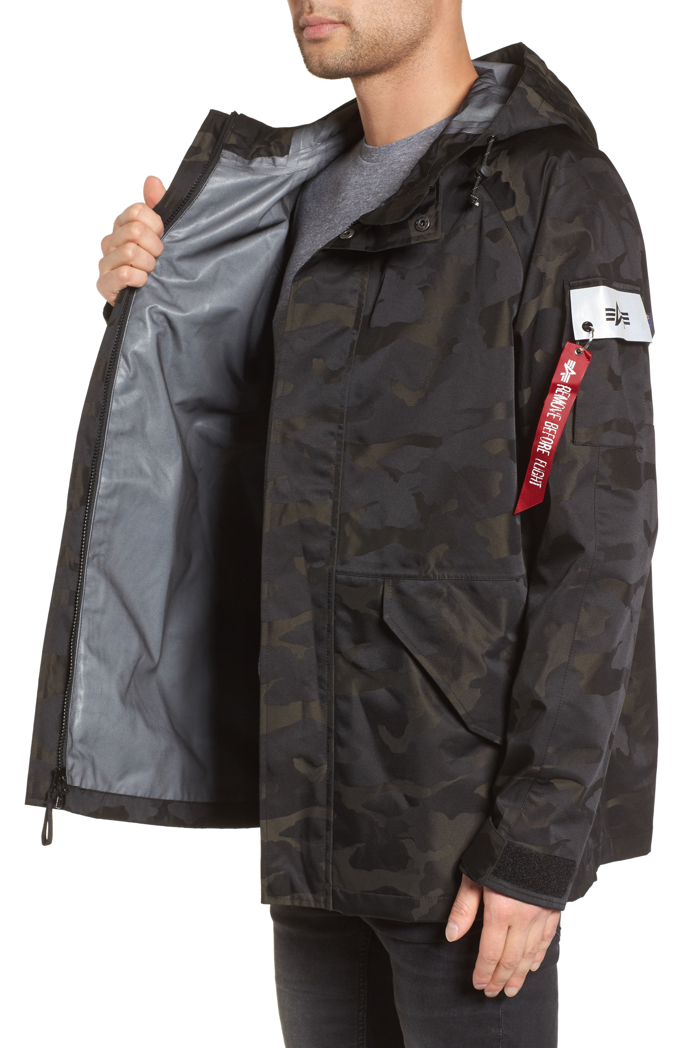 Torrent Camo Jacket,                             Alternate thumbnail 3, color,                             Black Camo