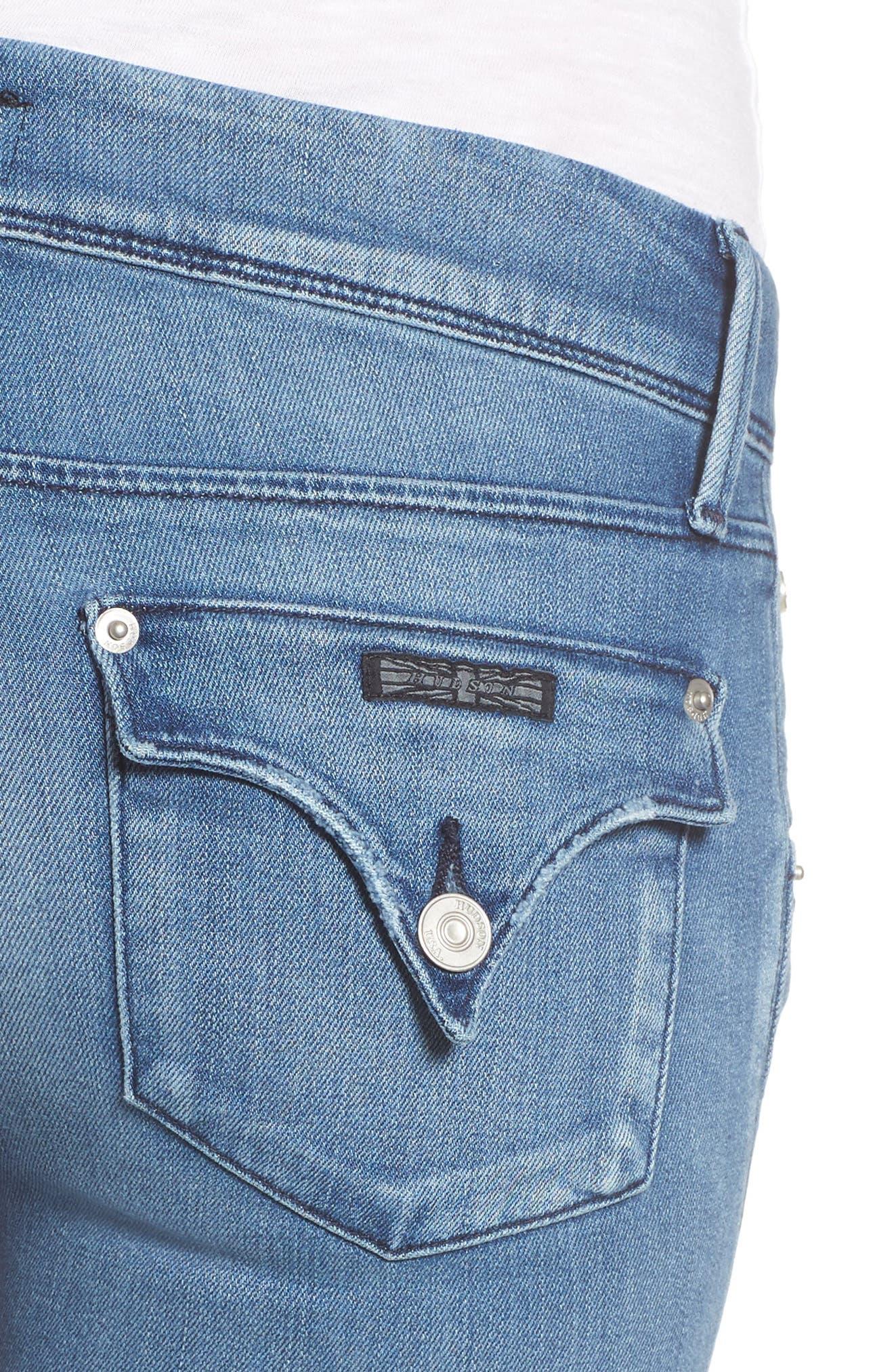 Alternate Image 4  - Hudson Jeans Collin Skinny Jeans (Sentimental)