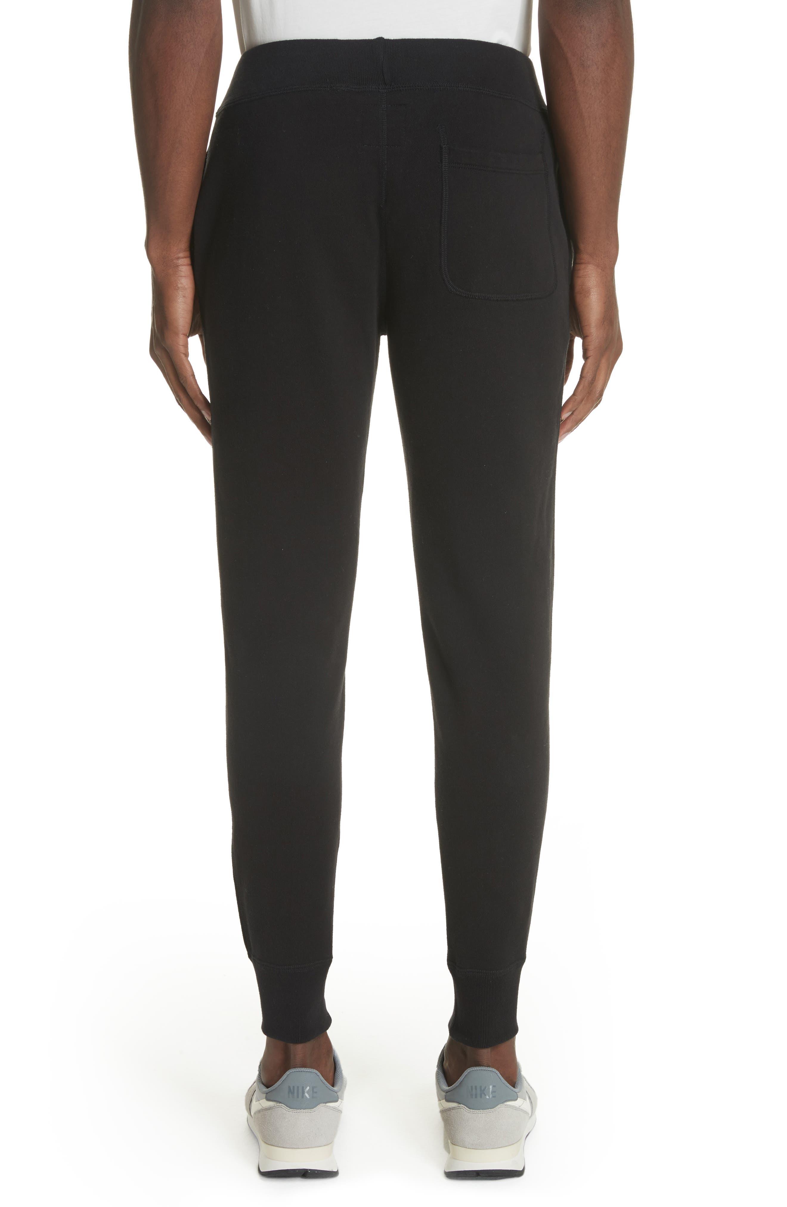 Cotton Blend Jogger Pants,                             Alternate thumbnail 2, color,                             Black