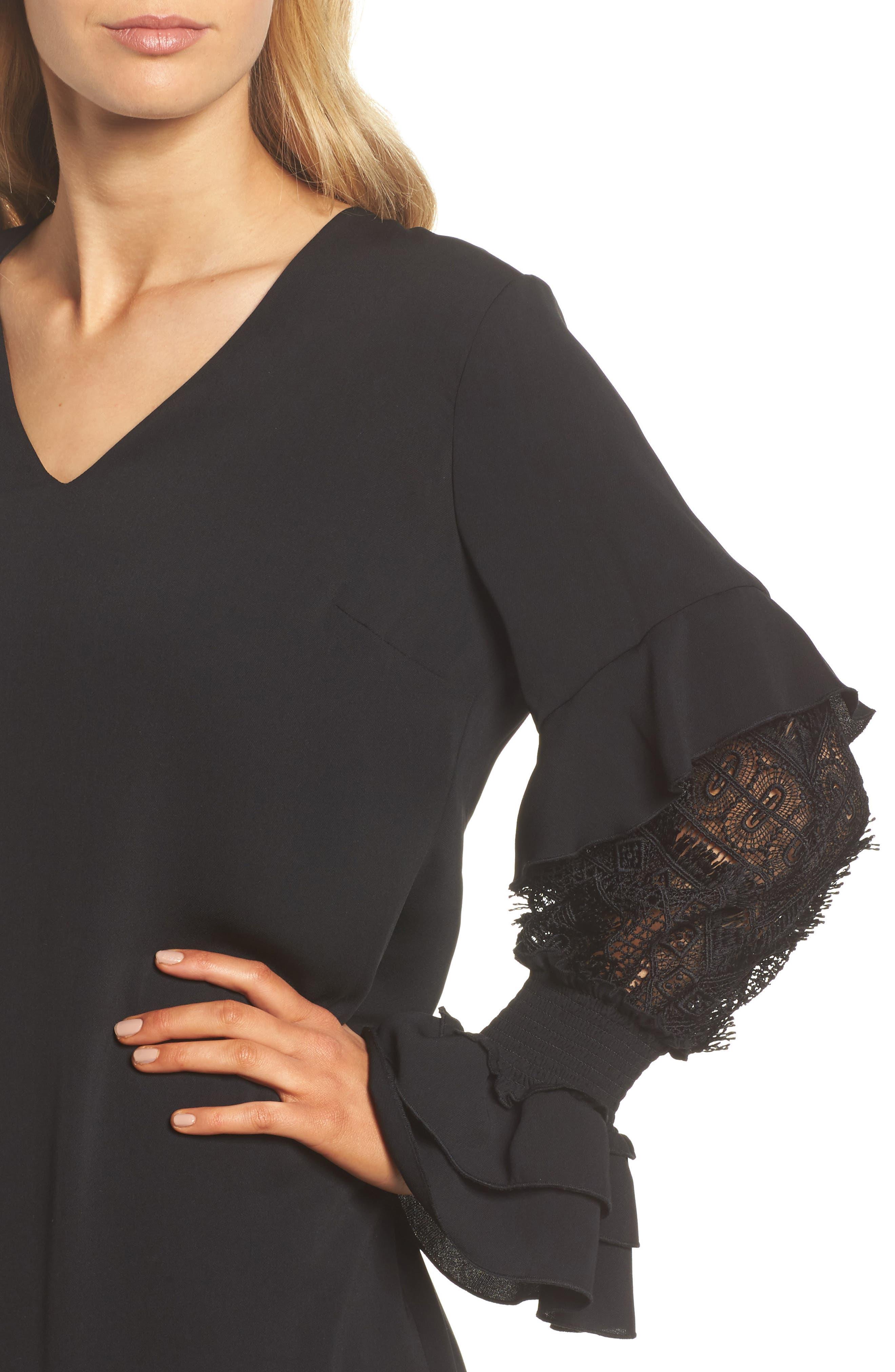 Alternate Image 4  - Kobi Halperin Alda Lace Sleeve Shift Dress (Nordstrom Exclusive)