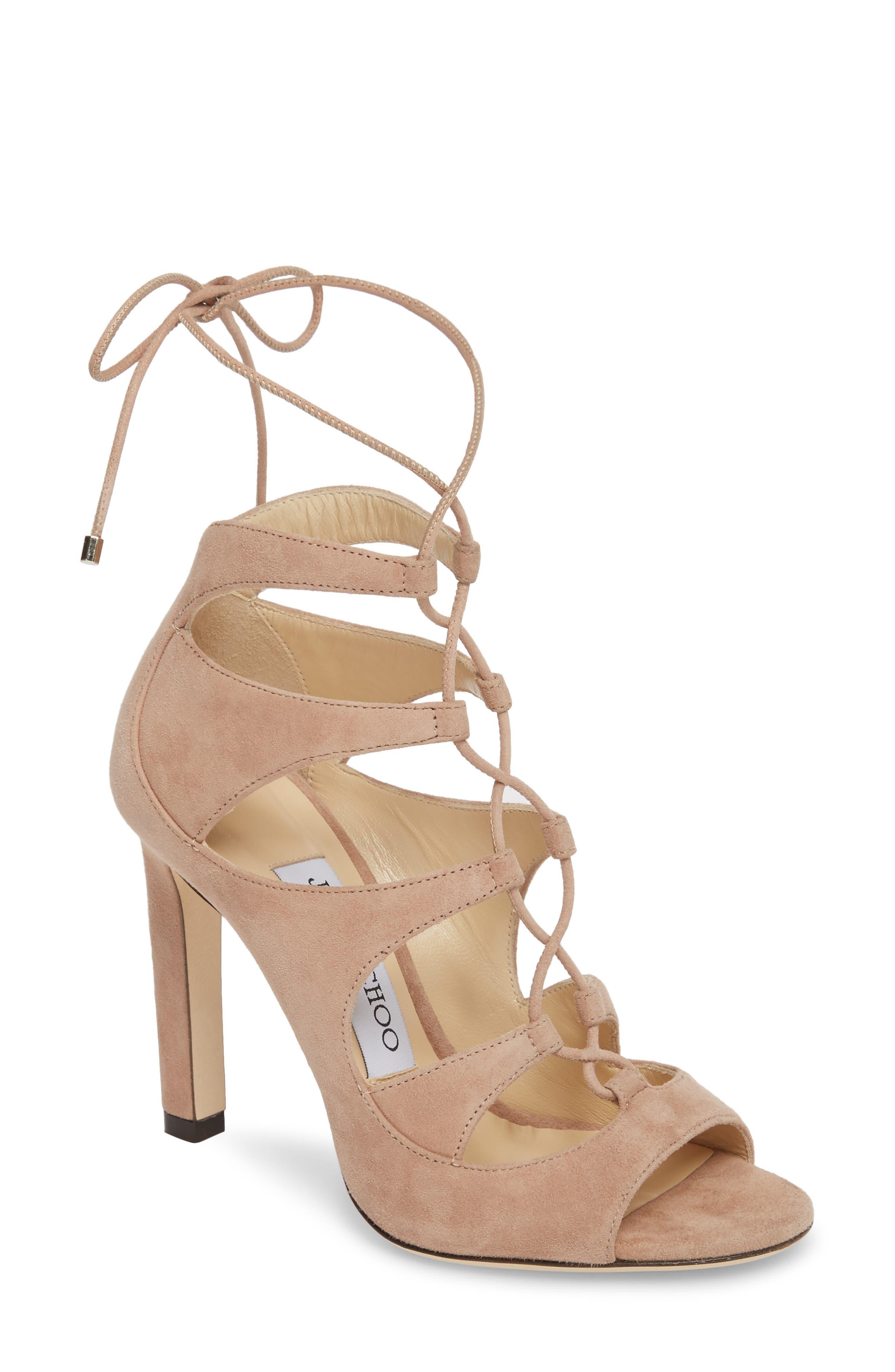 Alternate Image 1 Selected - Jimmy Choo Blake Lace-Up Sandal (Women)
