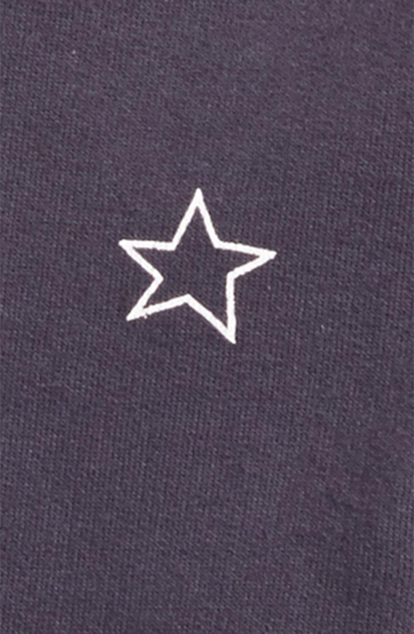 Star Print Baseball Jacket,                             Alternate thumbnail 2, color,                             Night Sky
