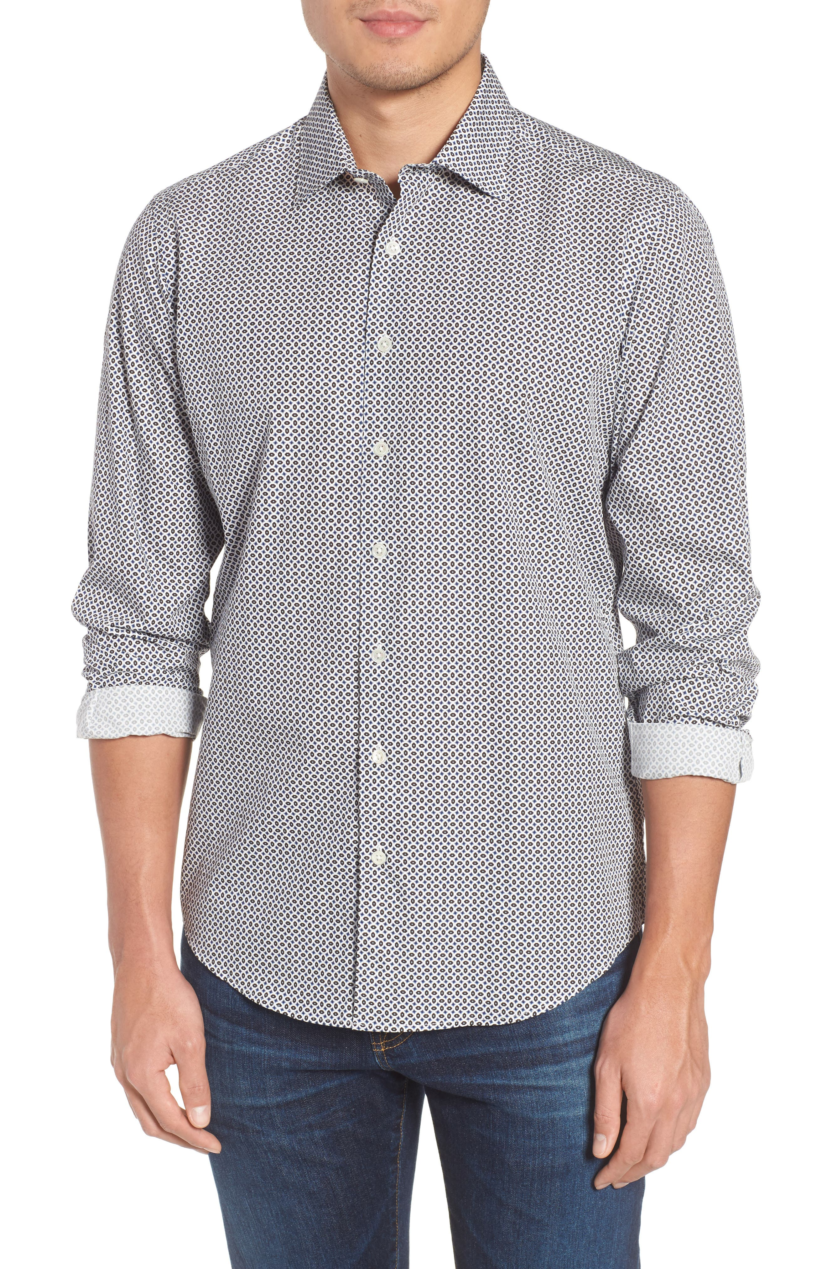 Oak House Regular Fit Sport Shirt,                             Main thumbnail 1, color,                             Ivory