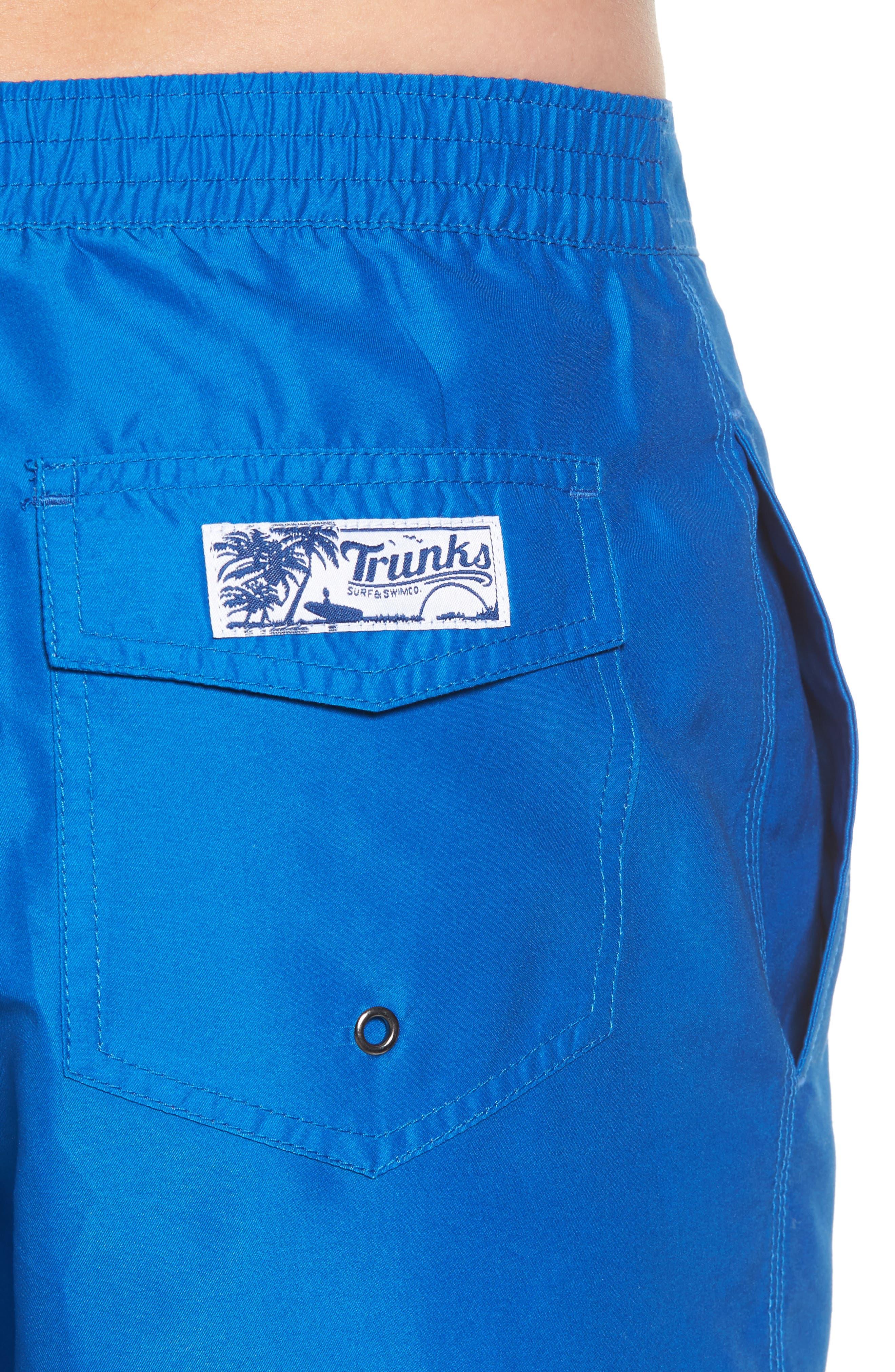 Swami Solid Board Shorts,                             Alternate thumbnail 4, color,                             Nautical Blue/ Marine