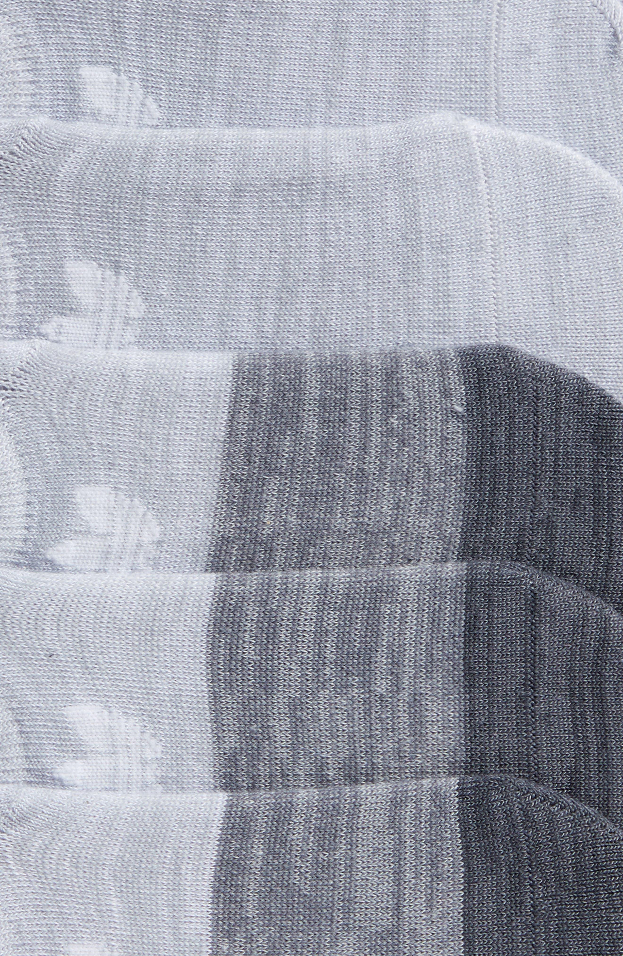 Block Space Dye 6-Pack Super No-Show Socks,                             Alternate thumbnail 2, color,                             Lt Grey