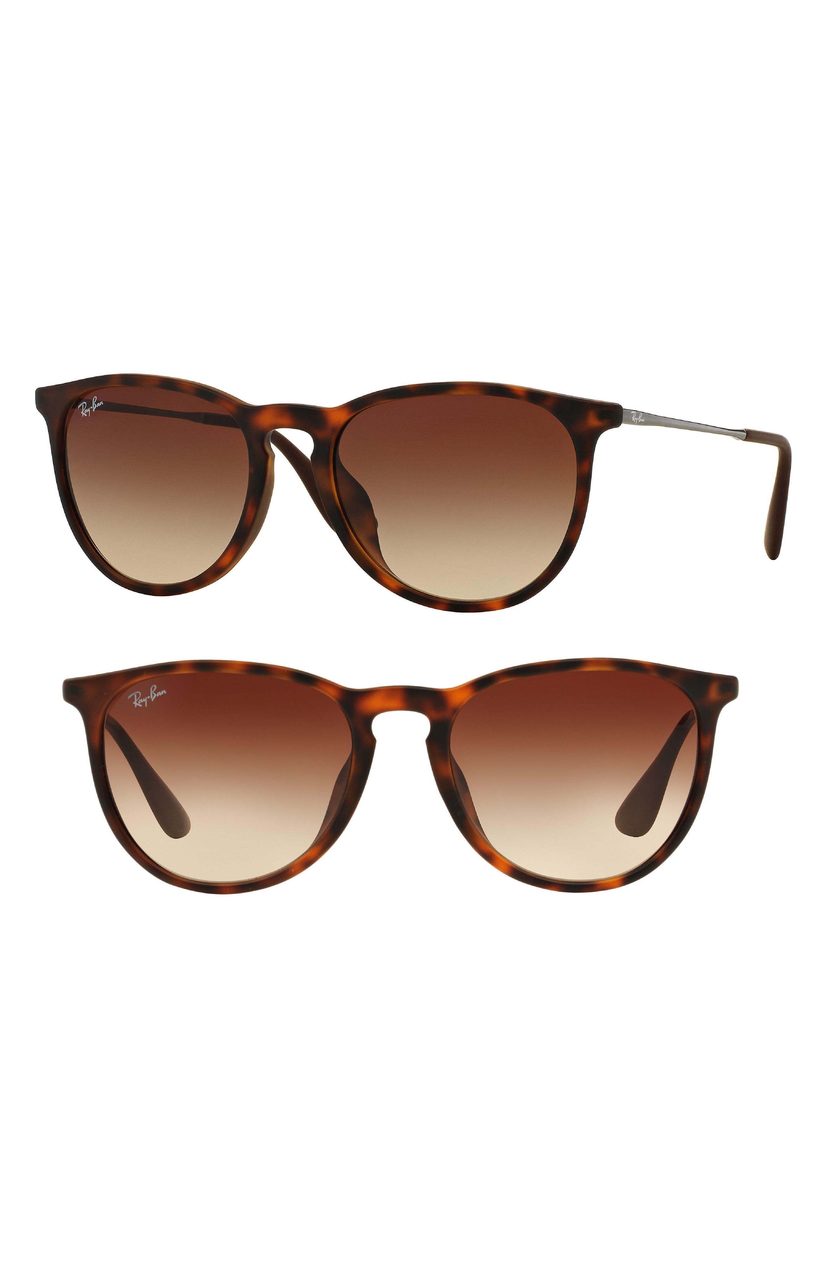 Erika 54mm Sunglasses,                         Main,                         color, Tortoise/ Silver