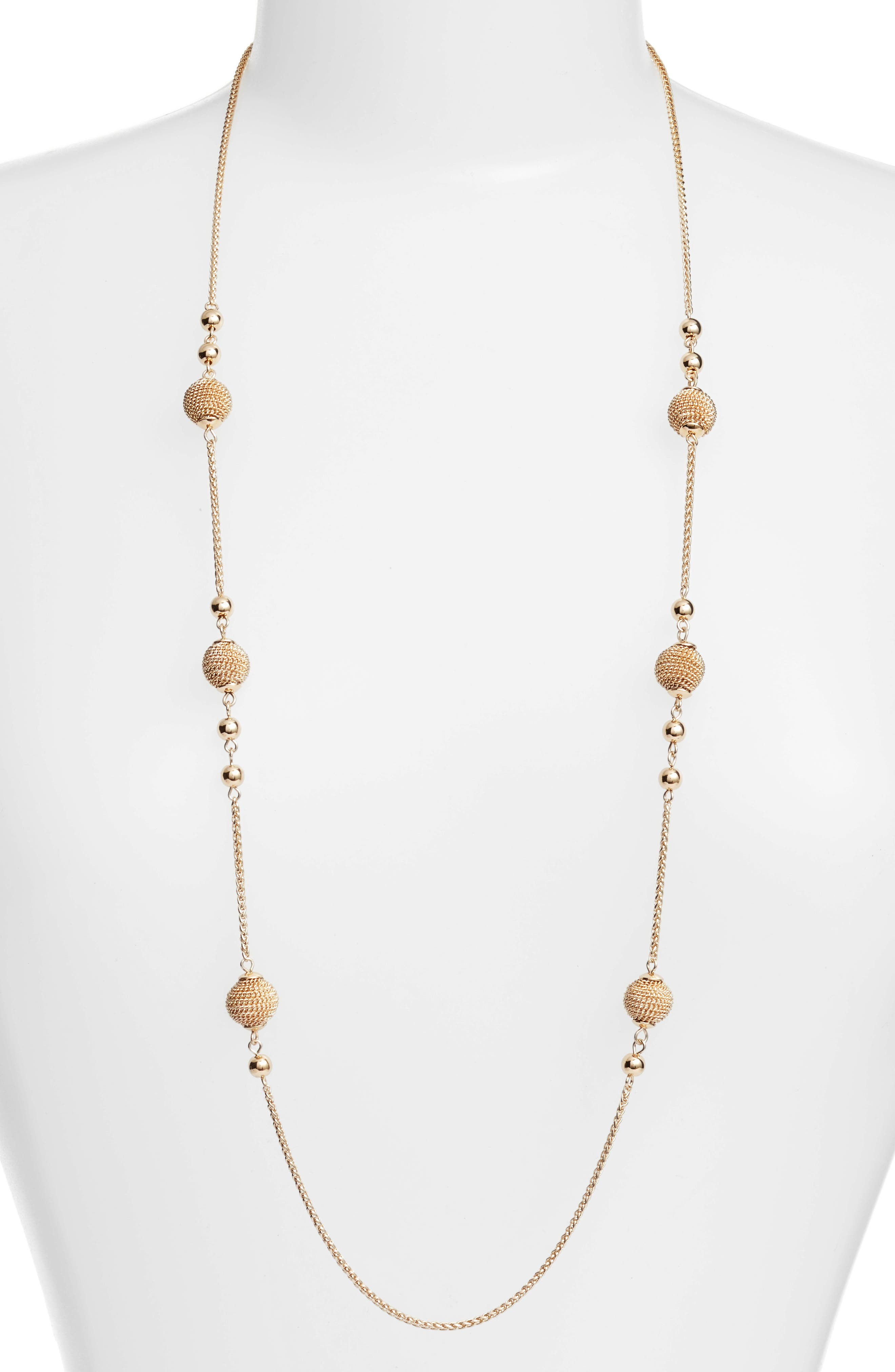 Chain Wrap Station Necklace,                         Main,                         color, Gold