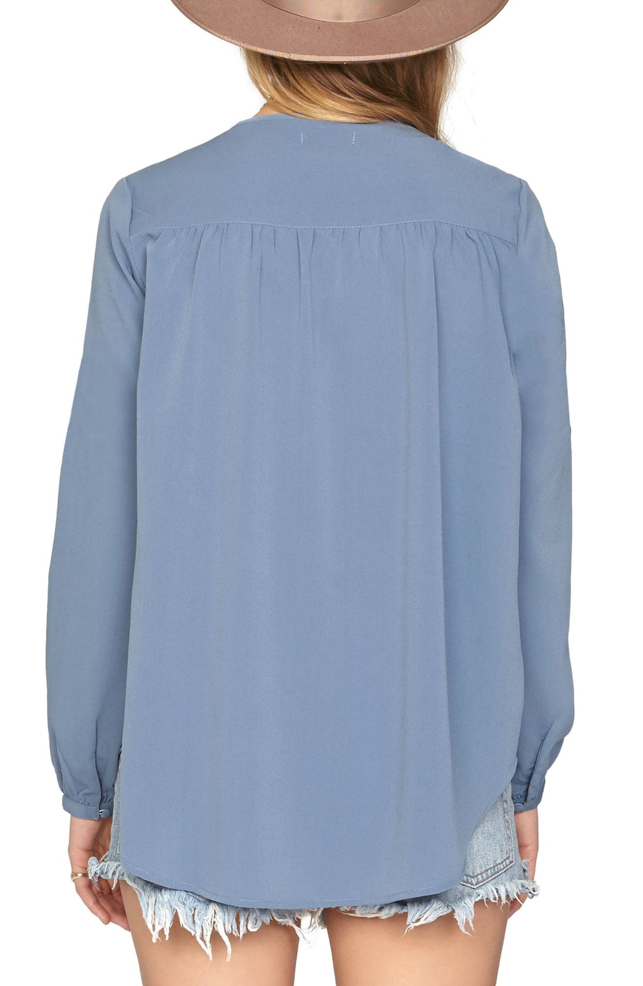 Pretty Young Thing Blouse,                             Alternate thumbnail 2, color,                             Riviera Blue