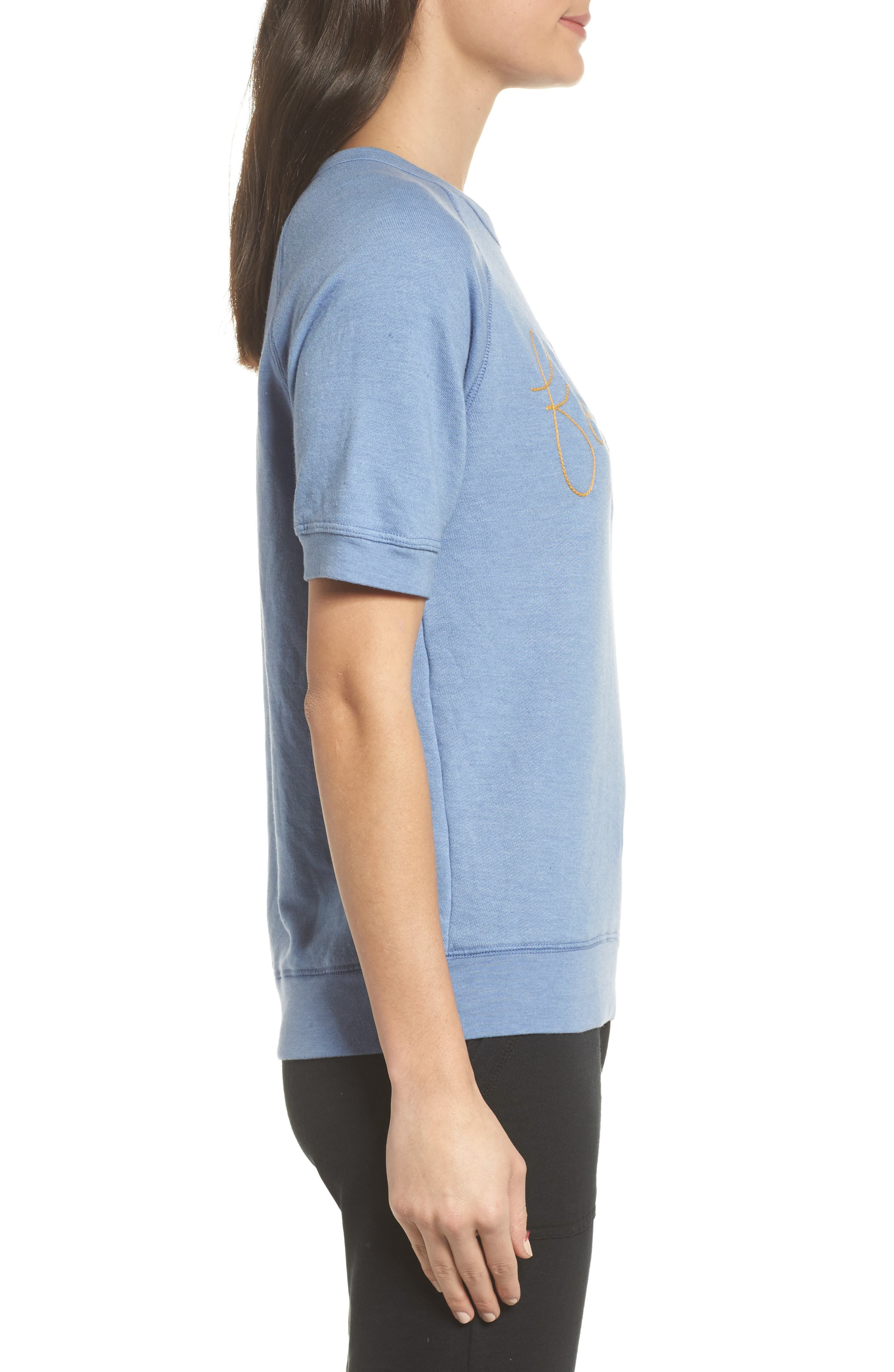 Alternate Image 3  - Junk Food Forever Short Sleeve Sweatshirt (Nordstrom Exclusive)