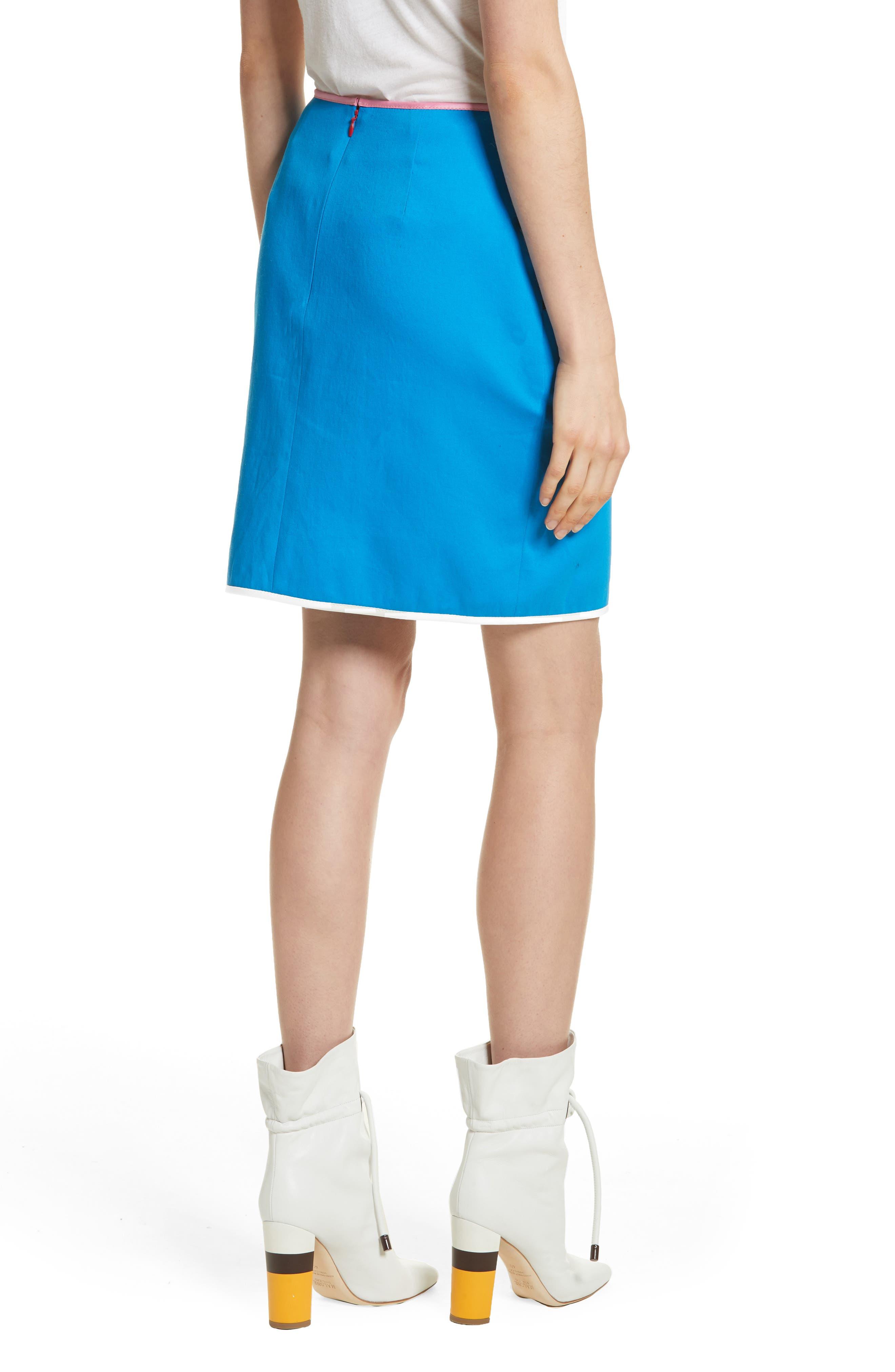 Alternate Image 2  - Harvey Faircloth Piping Detail Skirt