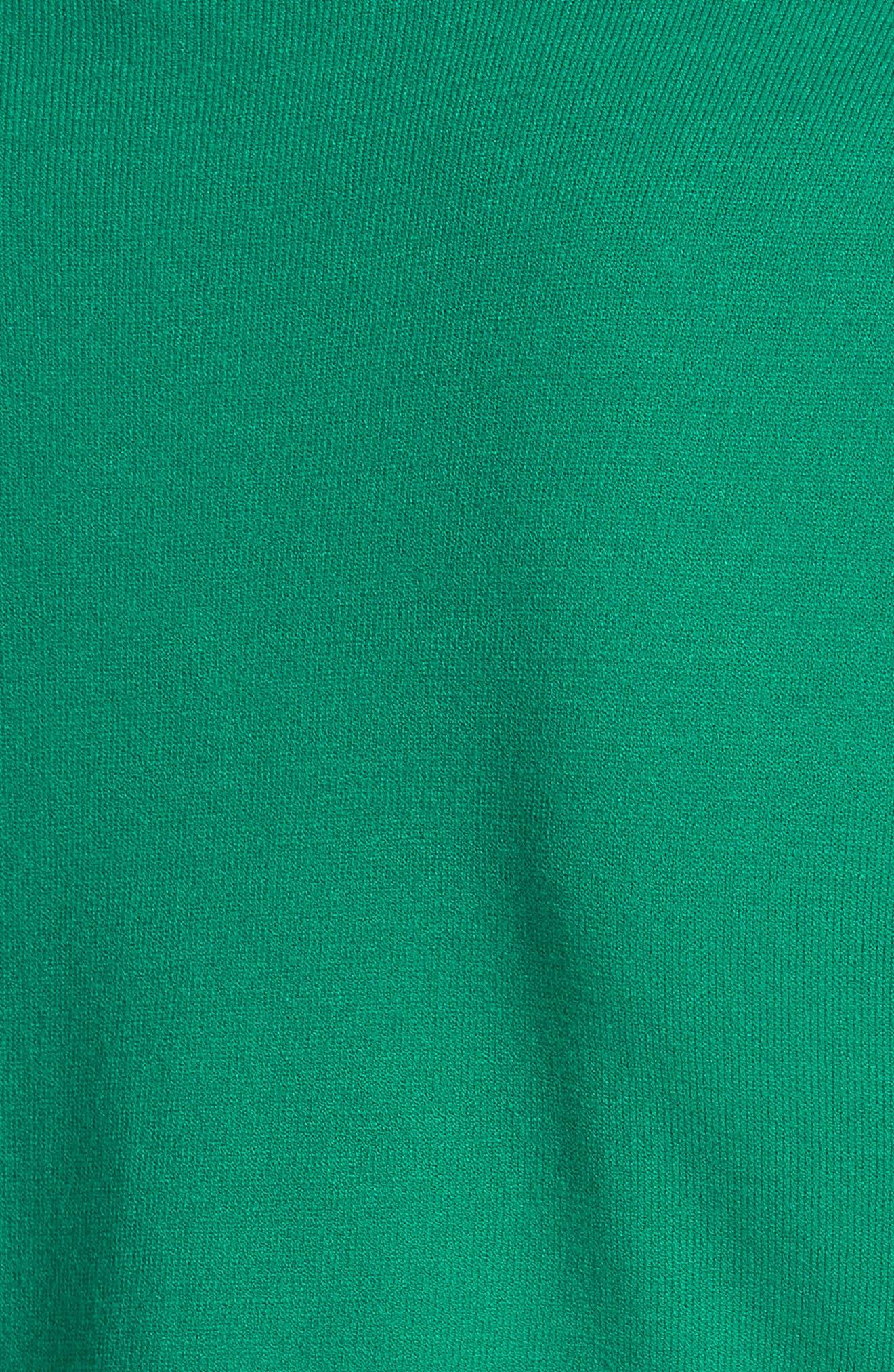 Mock Neck Tee,                             Alternate thumbnail 5, color,                             Emerald