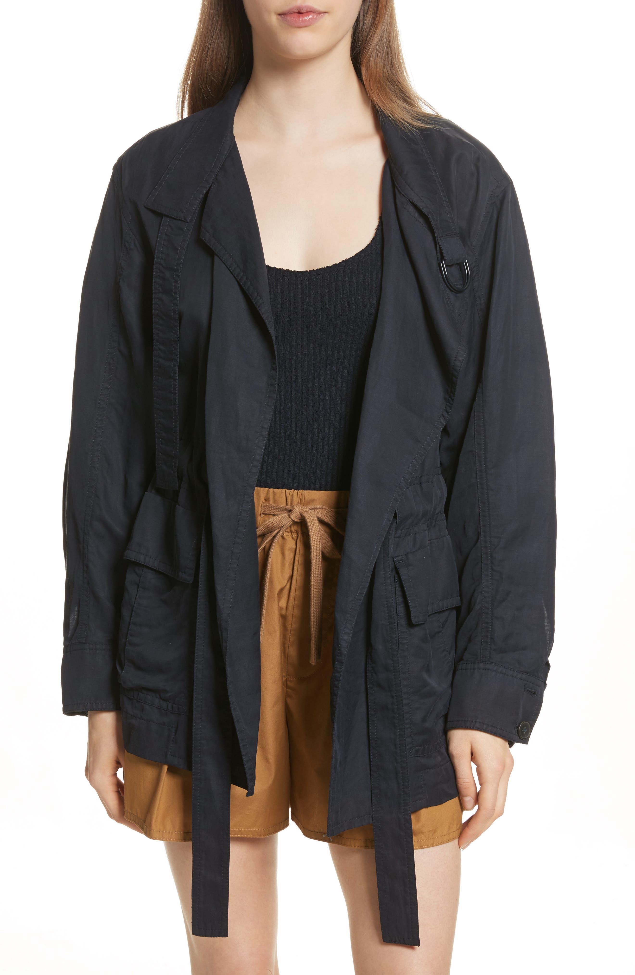 Drapey Jacket,                         Main,                         color, Coastal
