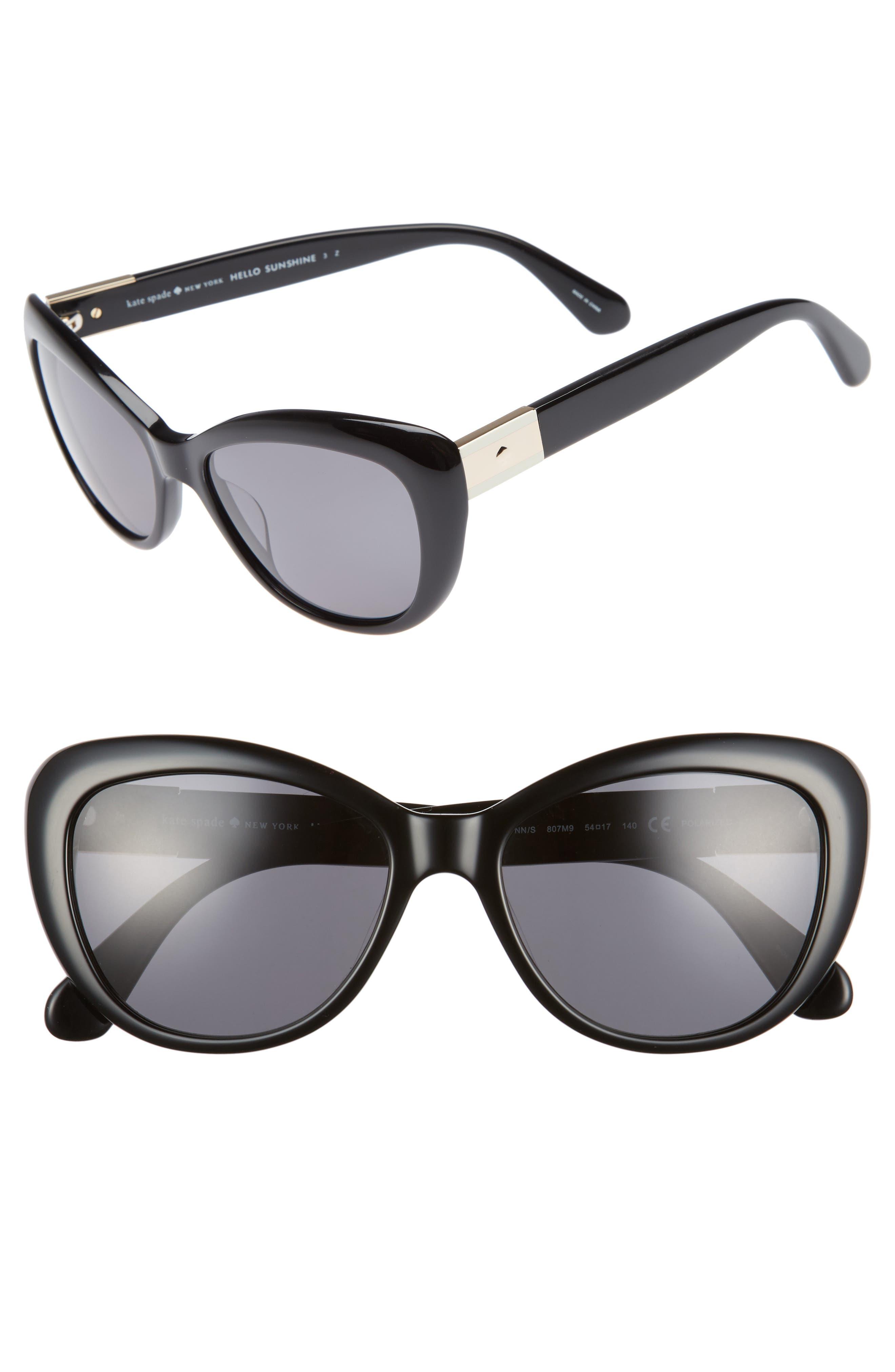 Alternate Image 1 Selected - kate spade new york emmalynn 54mm polarized cat eye sunglasses