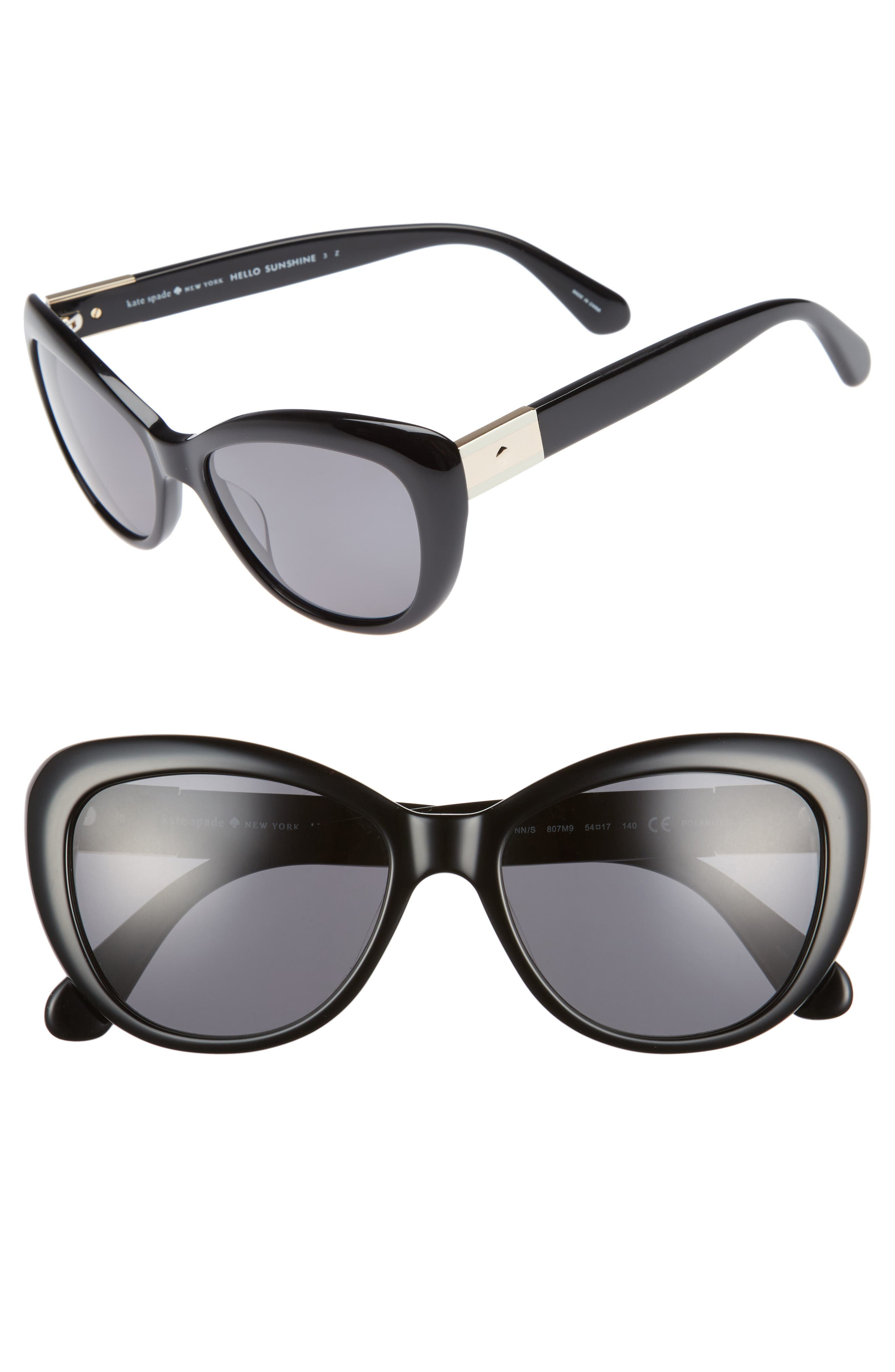 kate spade new york emmalynn 54mm polarized cat eye sunglasses