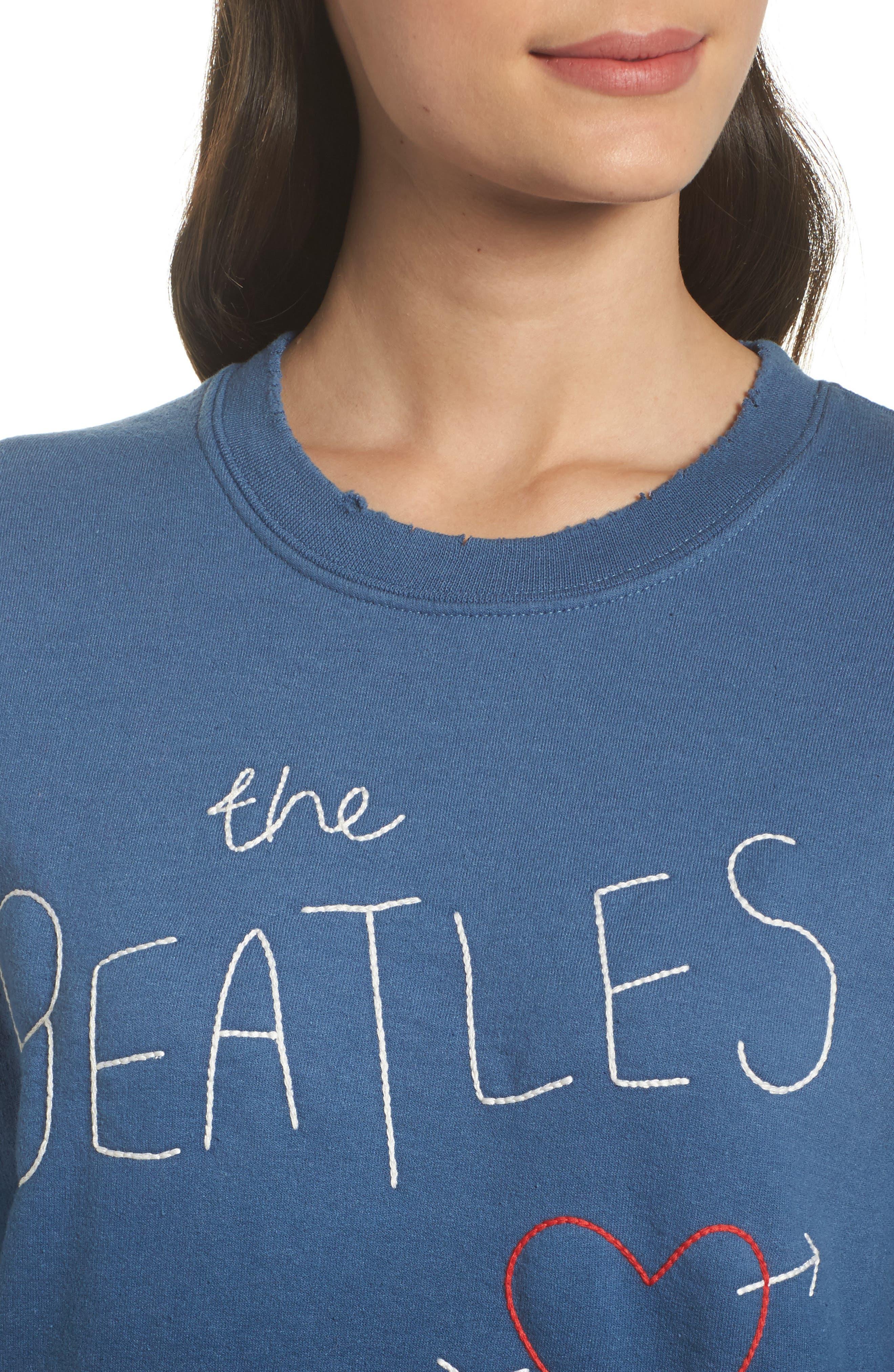The Beatles Ombré Sweatshirt,                             Alternate thumbnail 5, color,                             True Navy