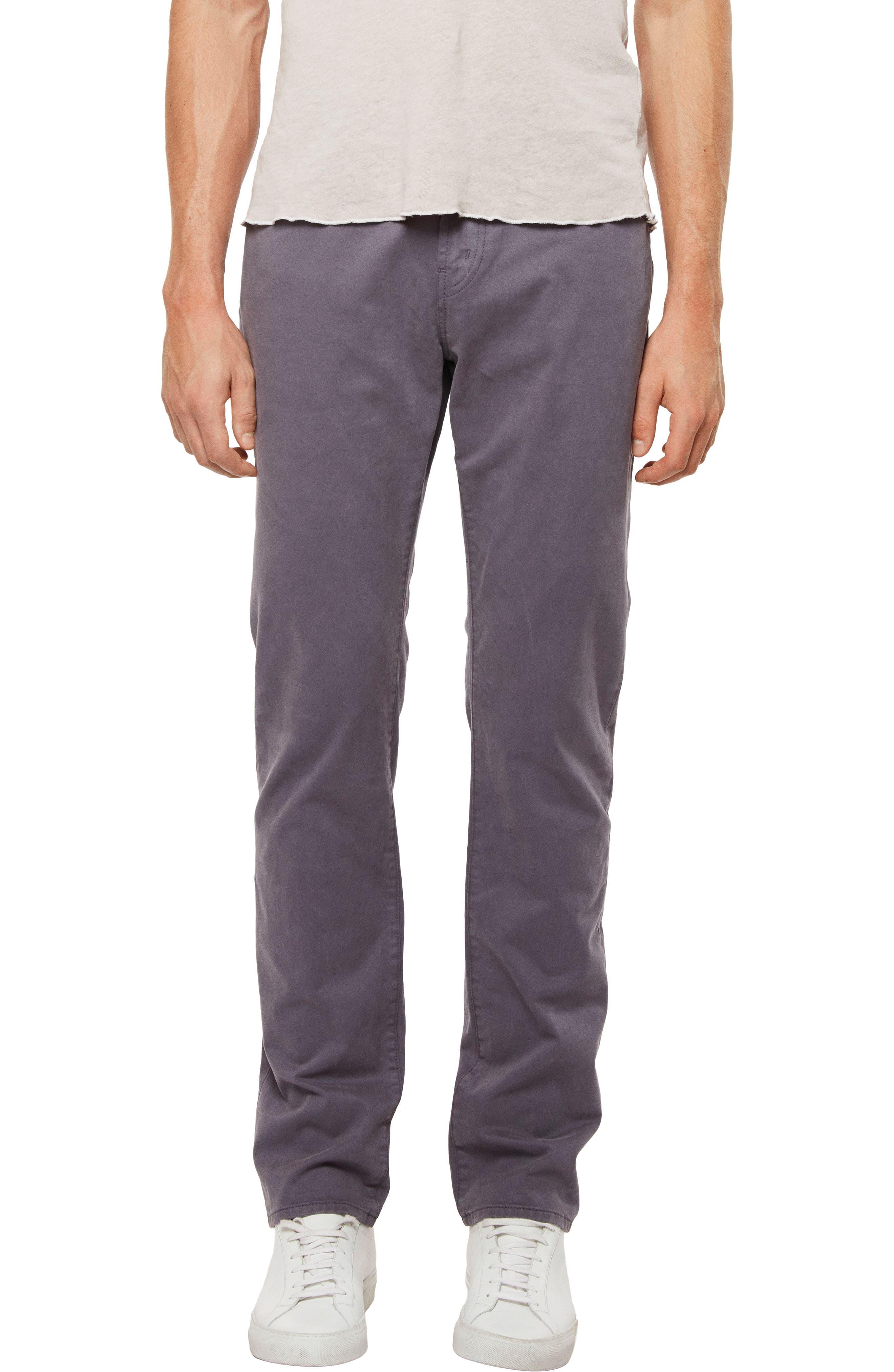 'Kane' Slim Fit Cotton Twill Pants,                             Main thumbnail 1, color,                             Graben