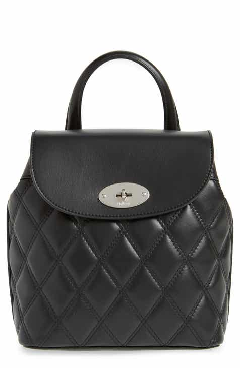 Mulberry Mini Bayswater Quilted Calfskin Leather Convertible Backpack