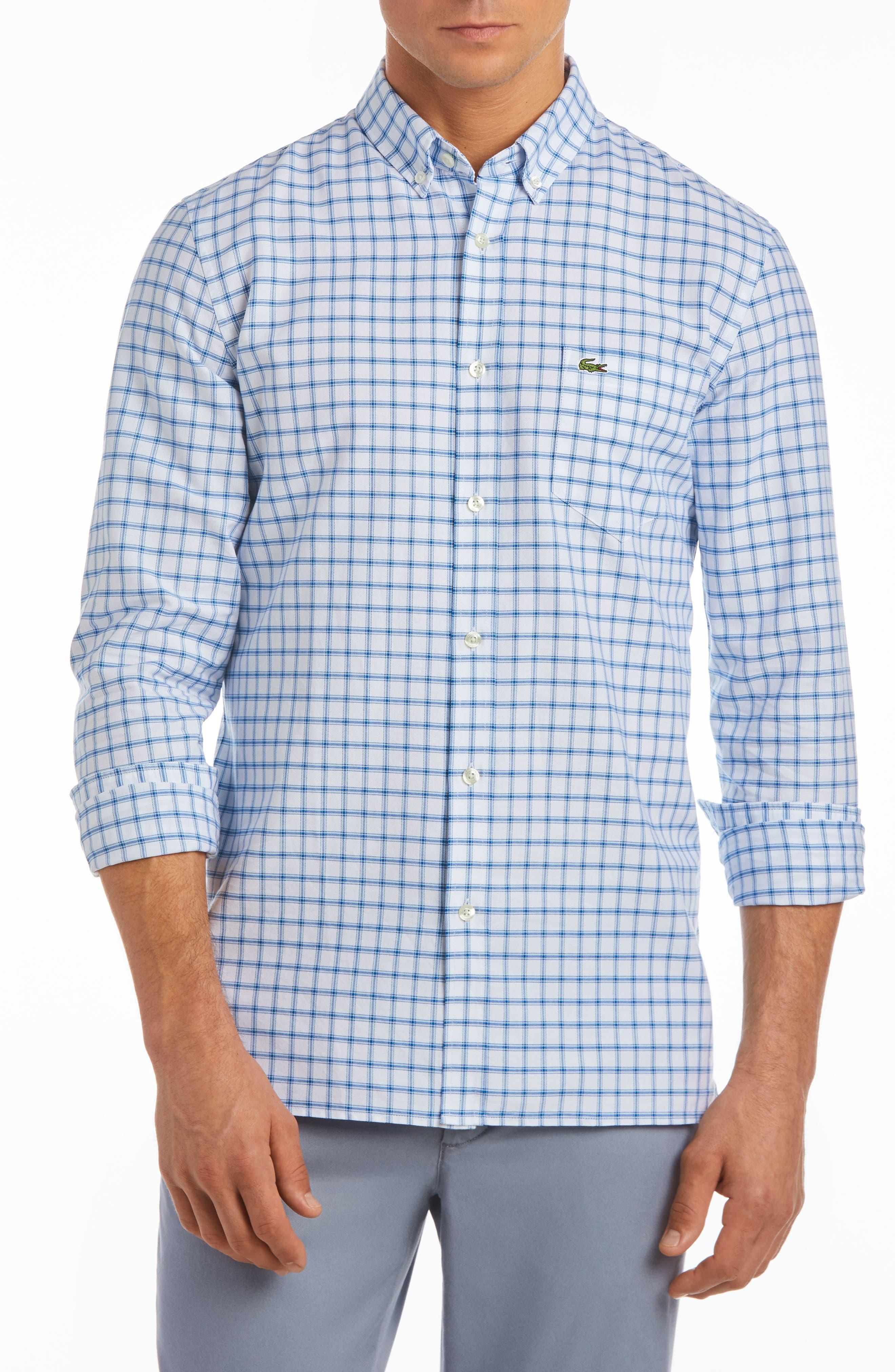 Alternate Image 1 Selected - Lacoste Slim Fit Grid Cotton Sport Shirt