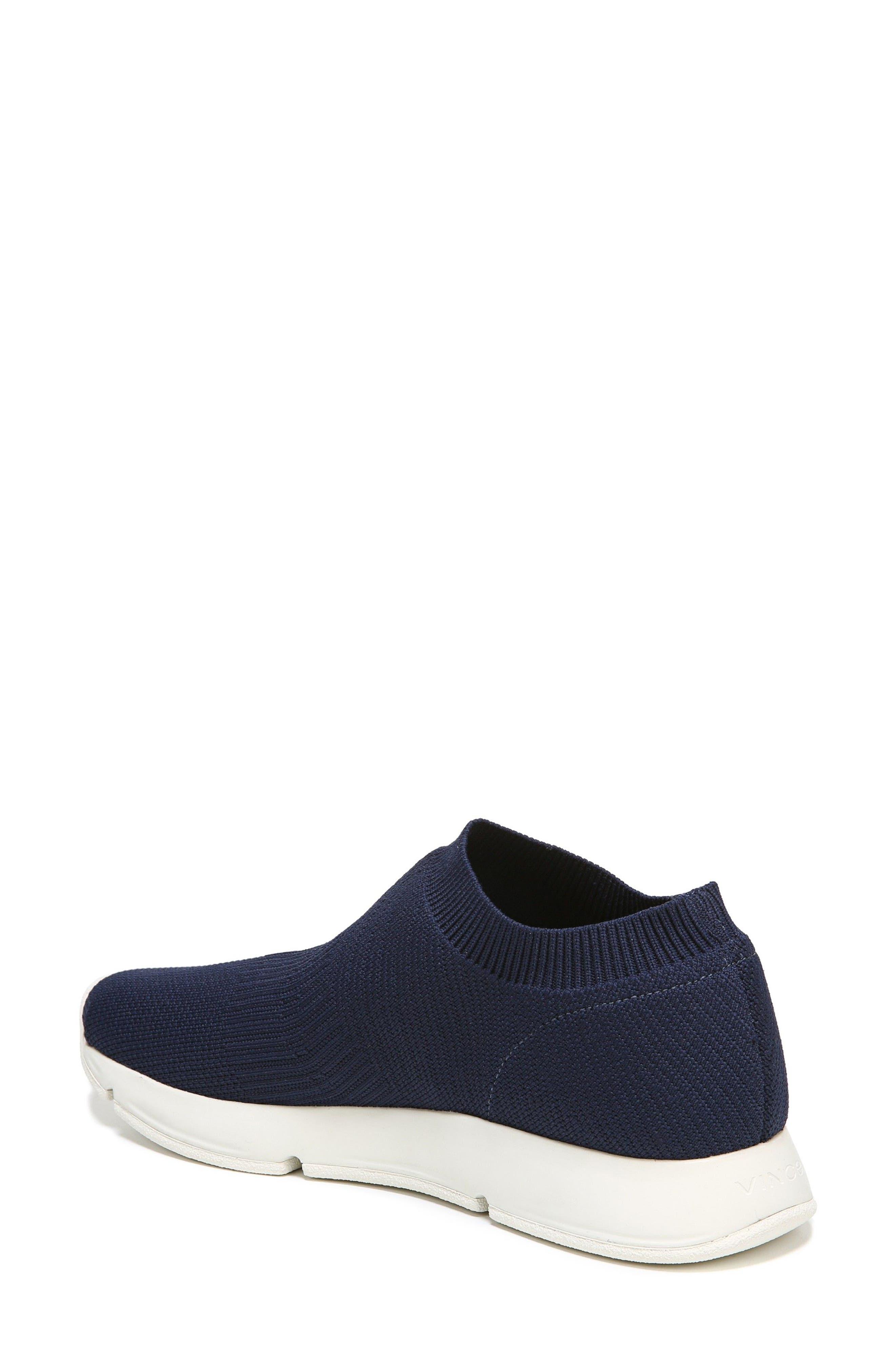 Theroux Slip-On Knit Sneaker,                             Alternate thumbnail 2, color,                             Navy