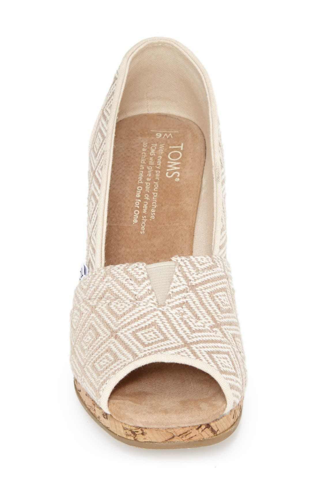 Alternate Image 7  - TOMS 'Classic' Woven Wedge Sandal (Women)