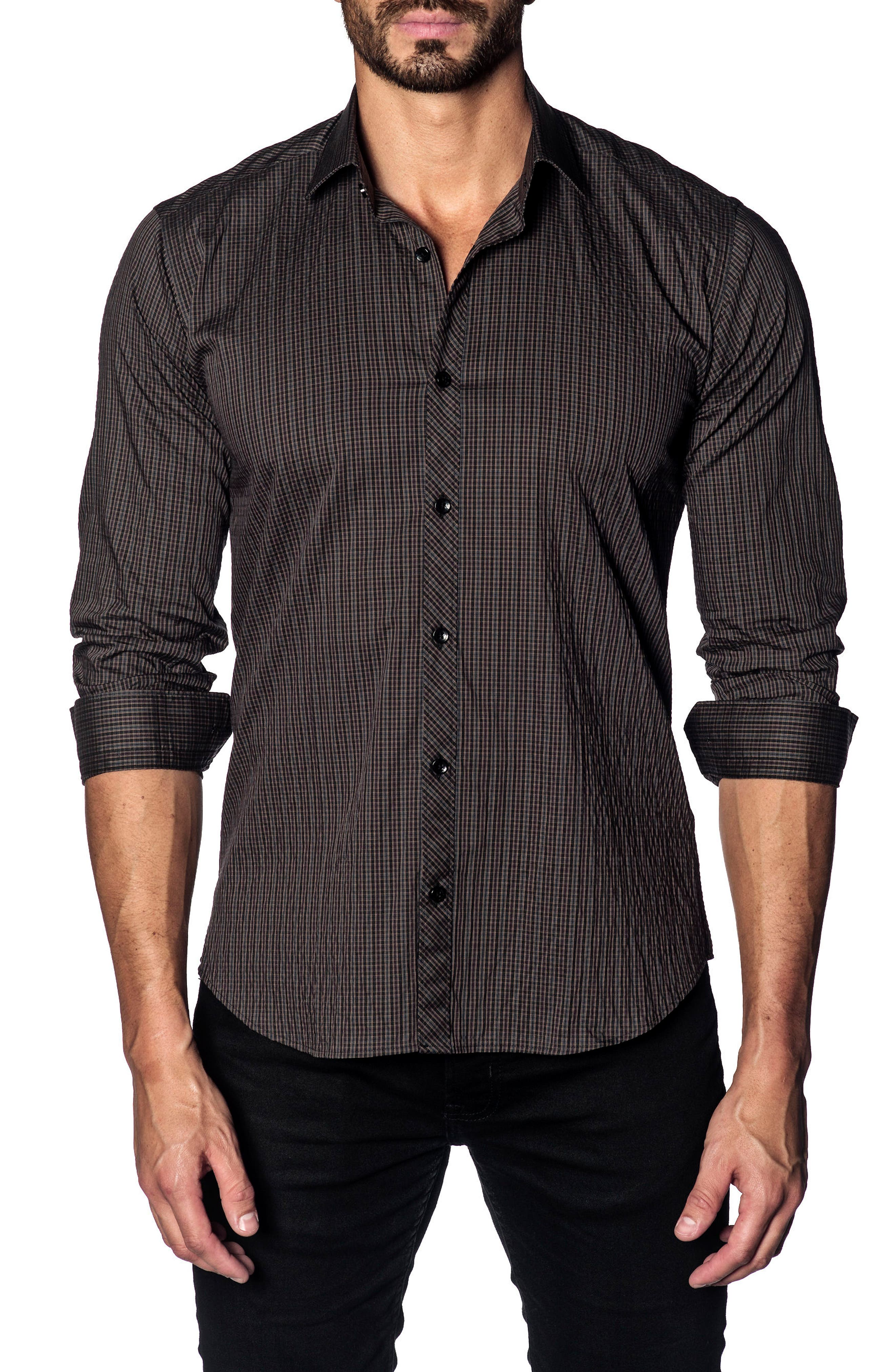 Jared Lang Slim Fit Check Sport Shirt