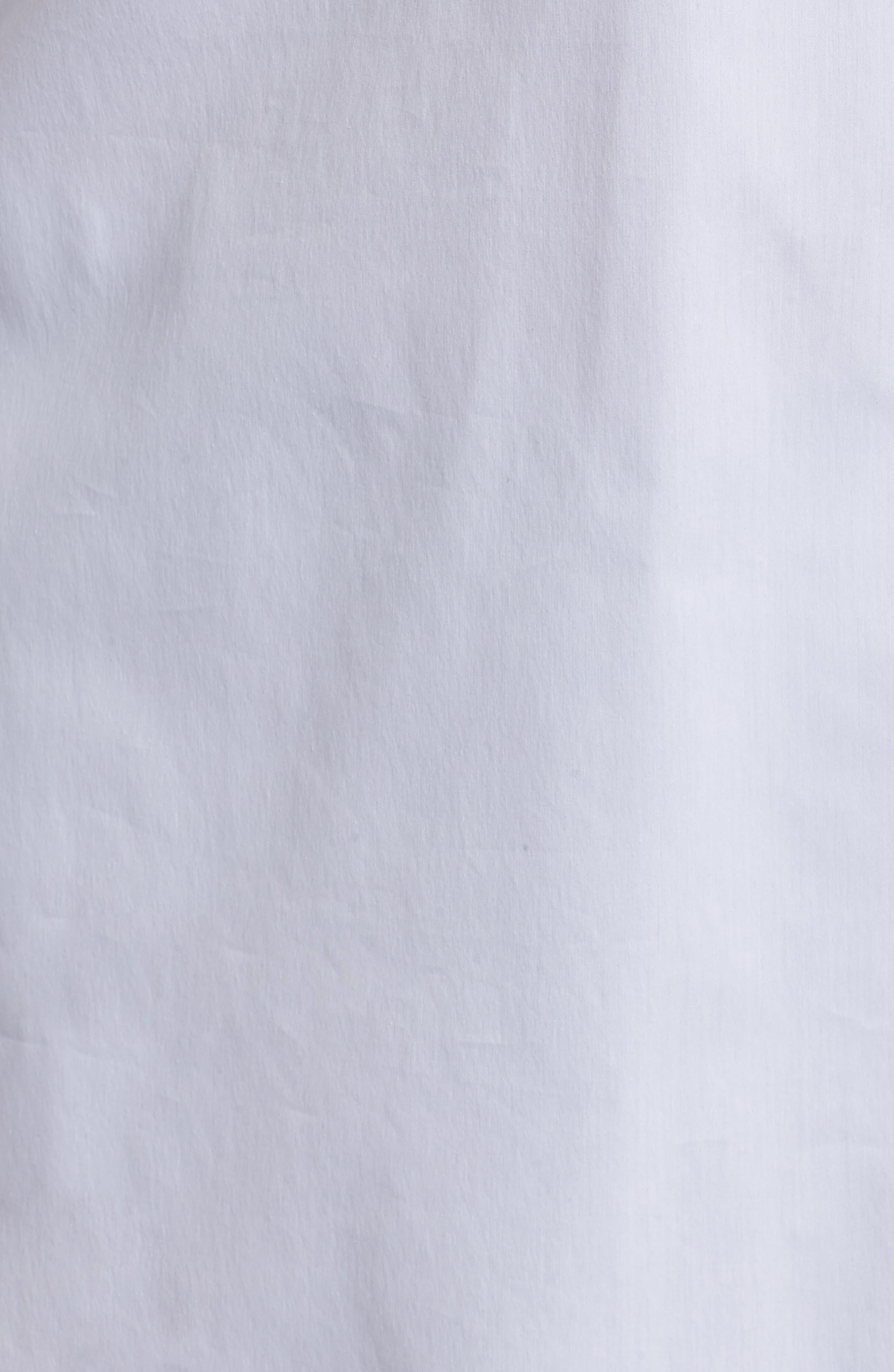 Tunic Button Down Shirt,                             Alternate thumbnail 5, color,                             White