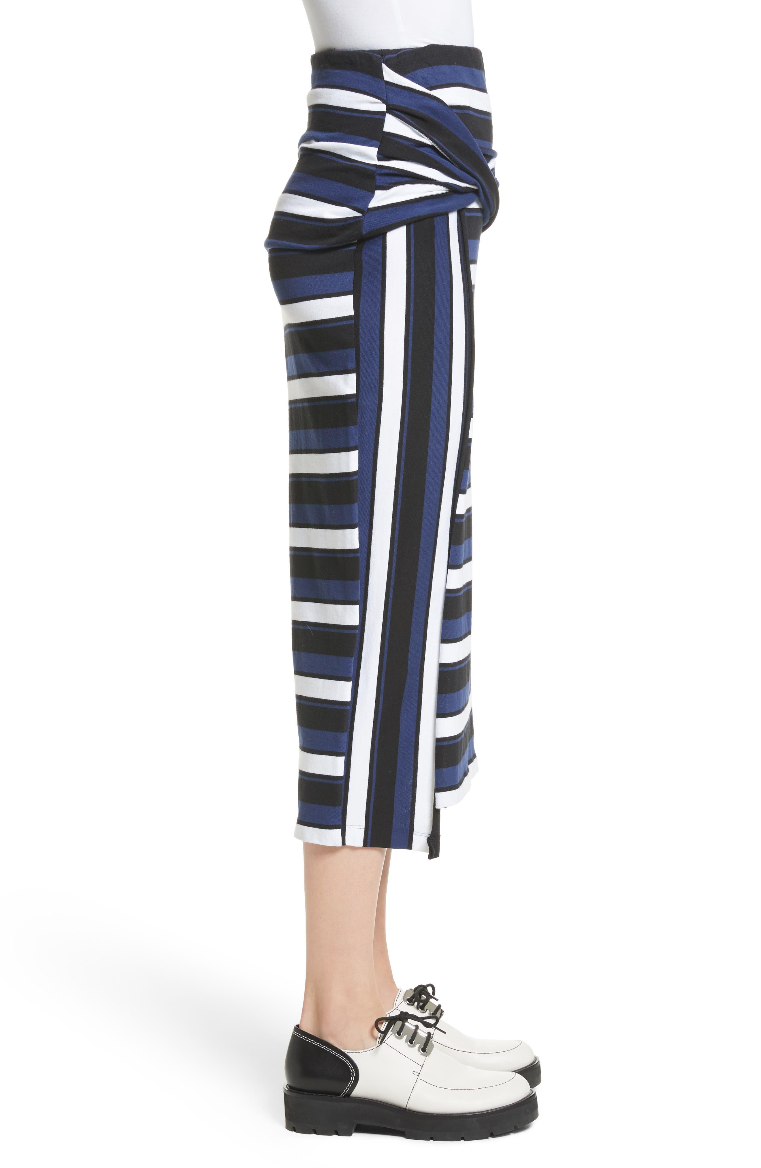 Stripe Maxi Skirt,                             Alternate thumbnail 3, color,                             Cobalt-Black