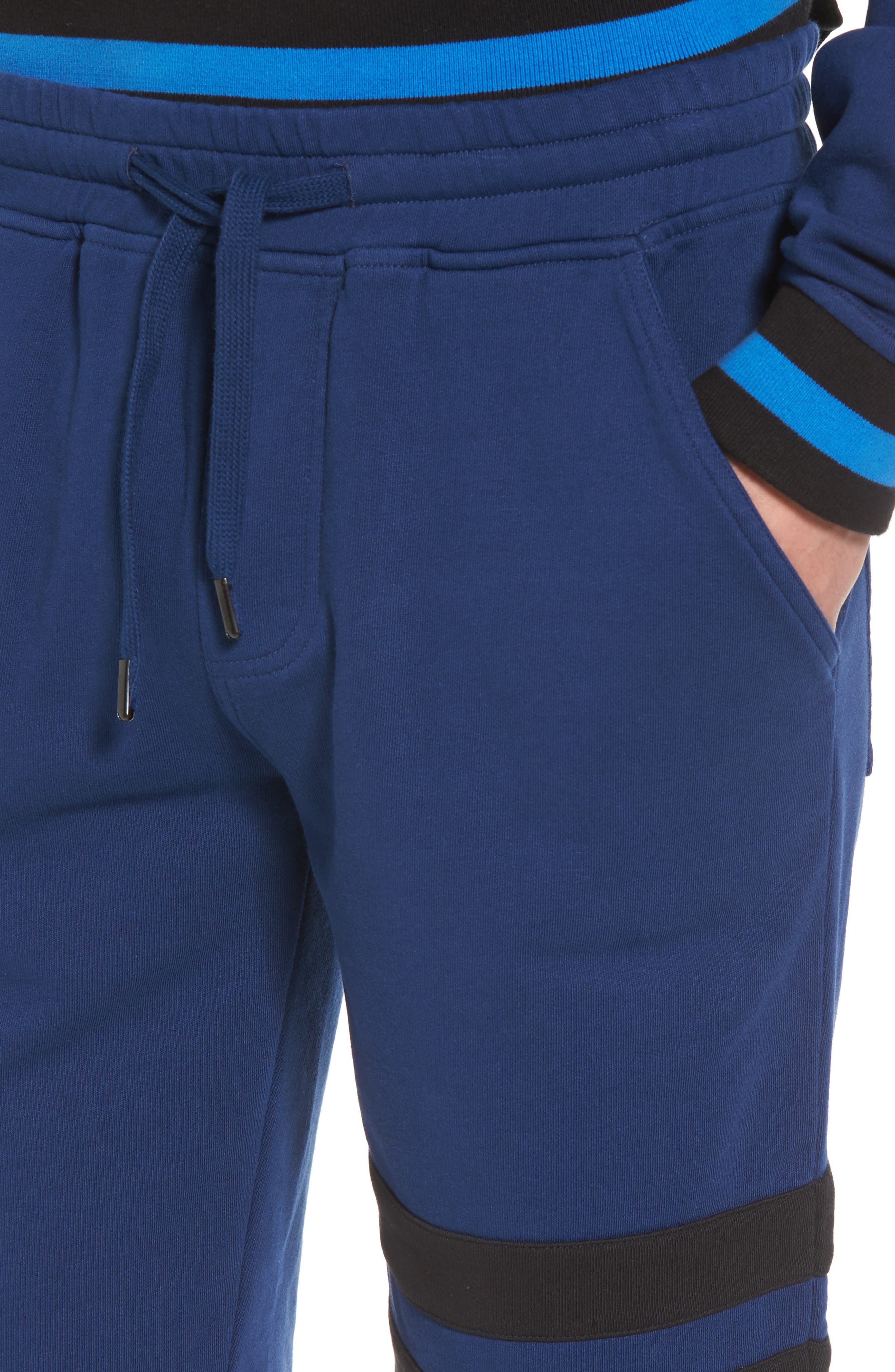 Stripe Athletic Shorts,                             Alternate thumbnail 4, color,                             Night Rider