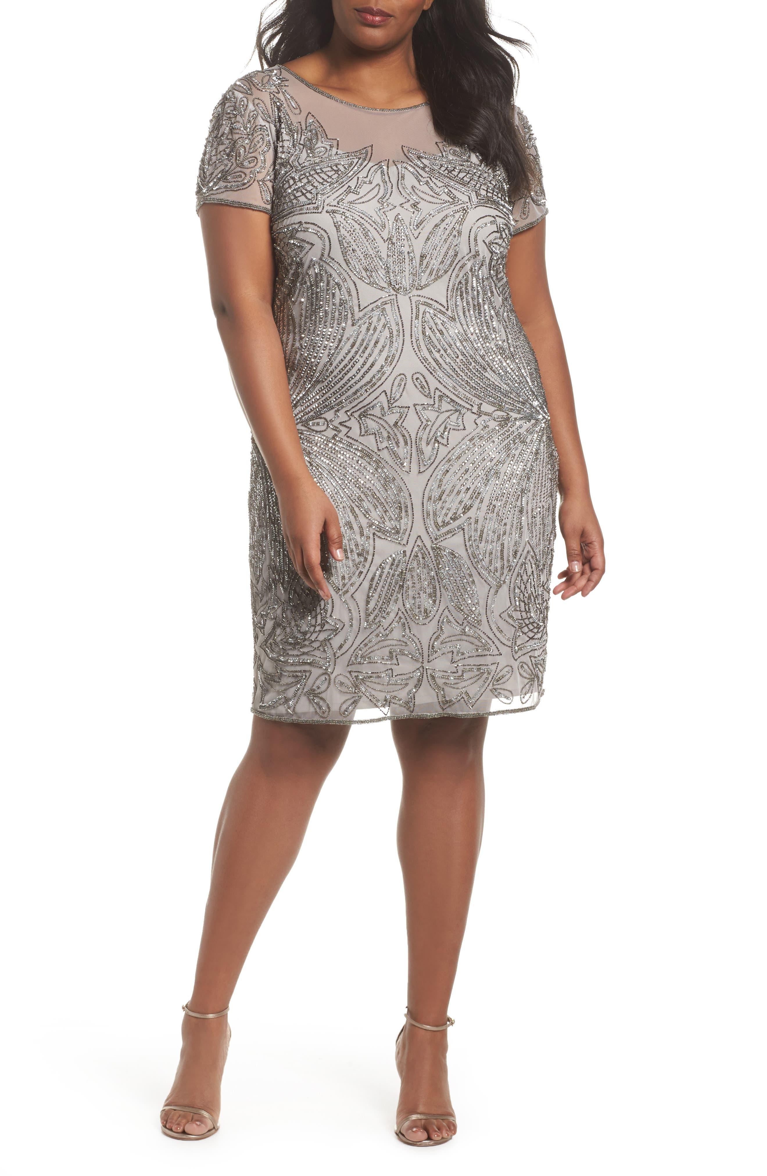 Pisarro nights plus size dresses silver