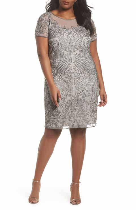 Pisarro Nights Beaded Sheath Dress Plus Size