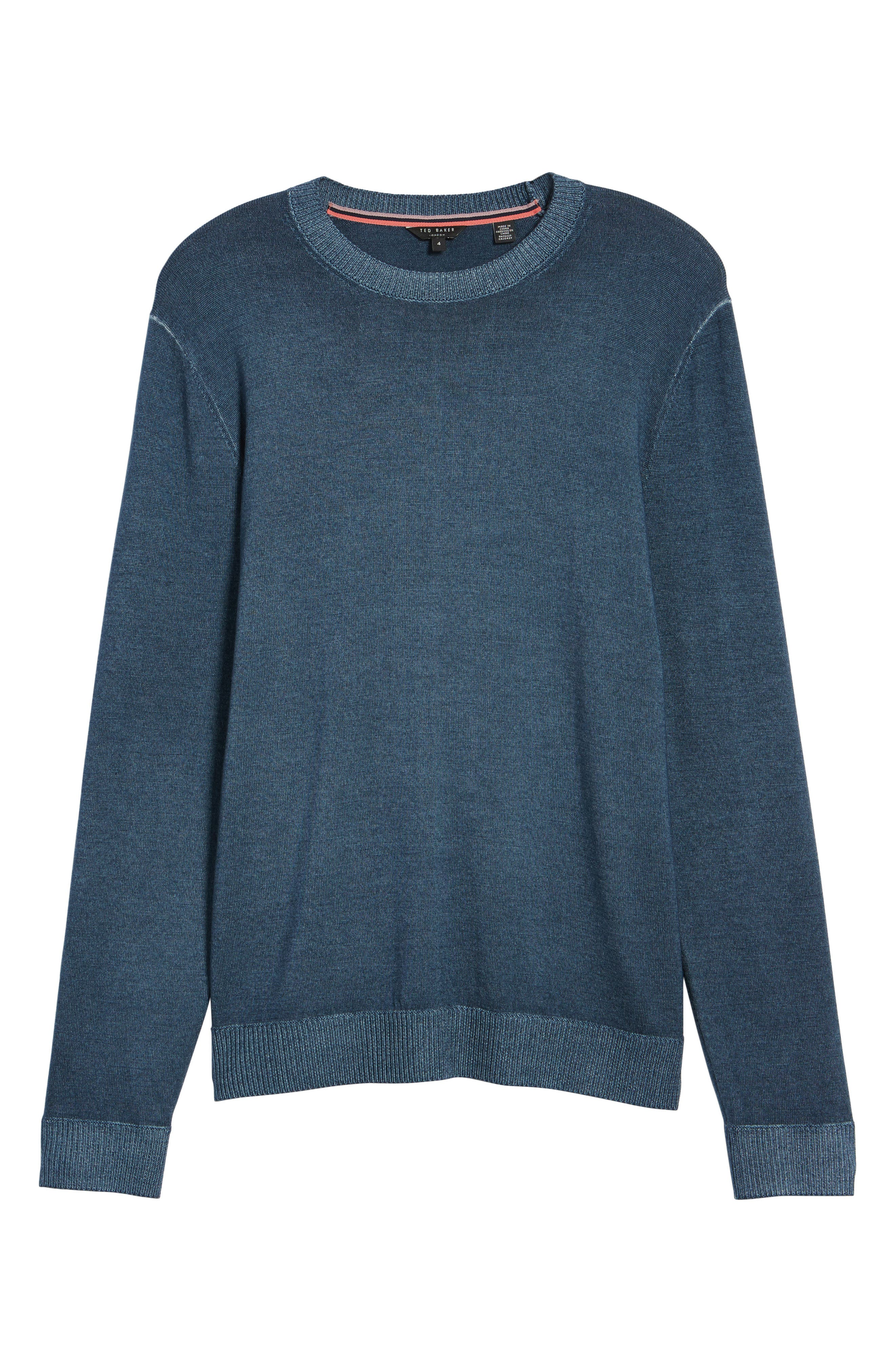 Lucky Trim Fit Wool Sweater,                             Main thumbnail 1, color,                             Mid Blue