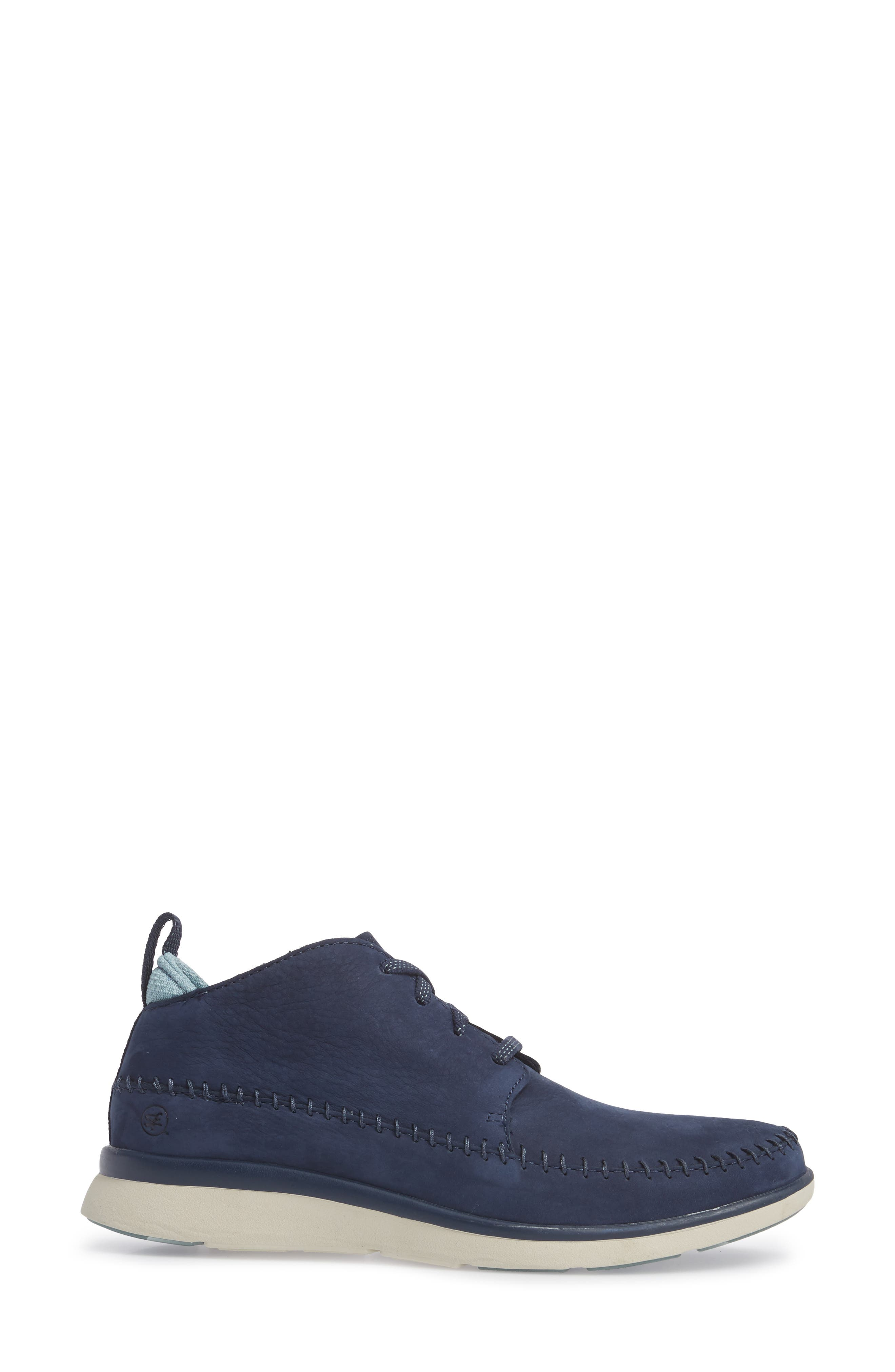 Olympia Lace-Up Sneaker,                             Alternate thumbnail 3, color,                             Blue Nubuck