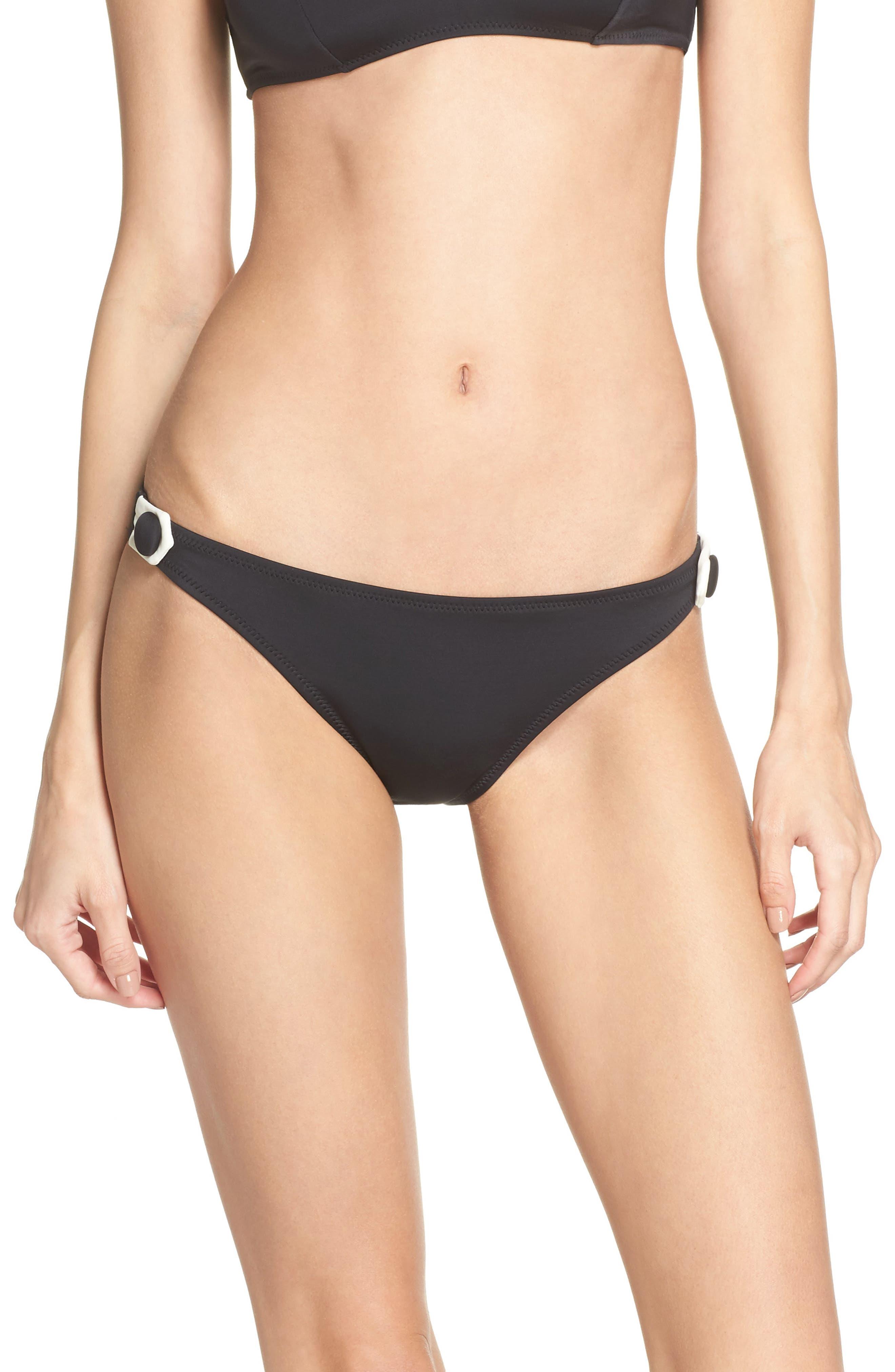 The Tessa Bikini Bottoms,                             Main thumbnail 1, color,                             Black